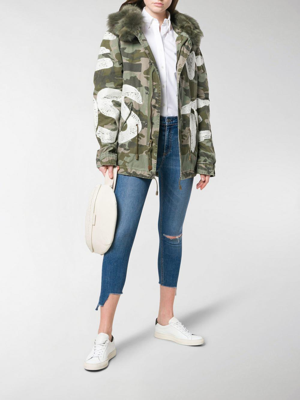 339aa2838cb28 Mr & Mrs Italy Camouflage Print Jacket in Green - Lyst