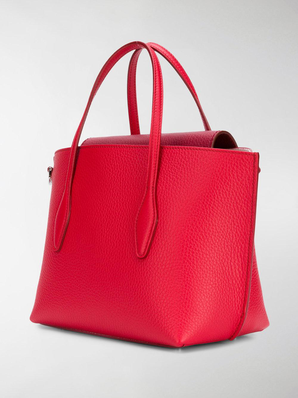 Tod's Leather Joy Small Tote in Red