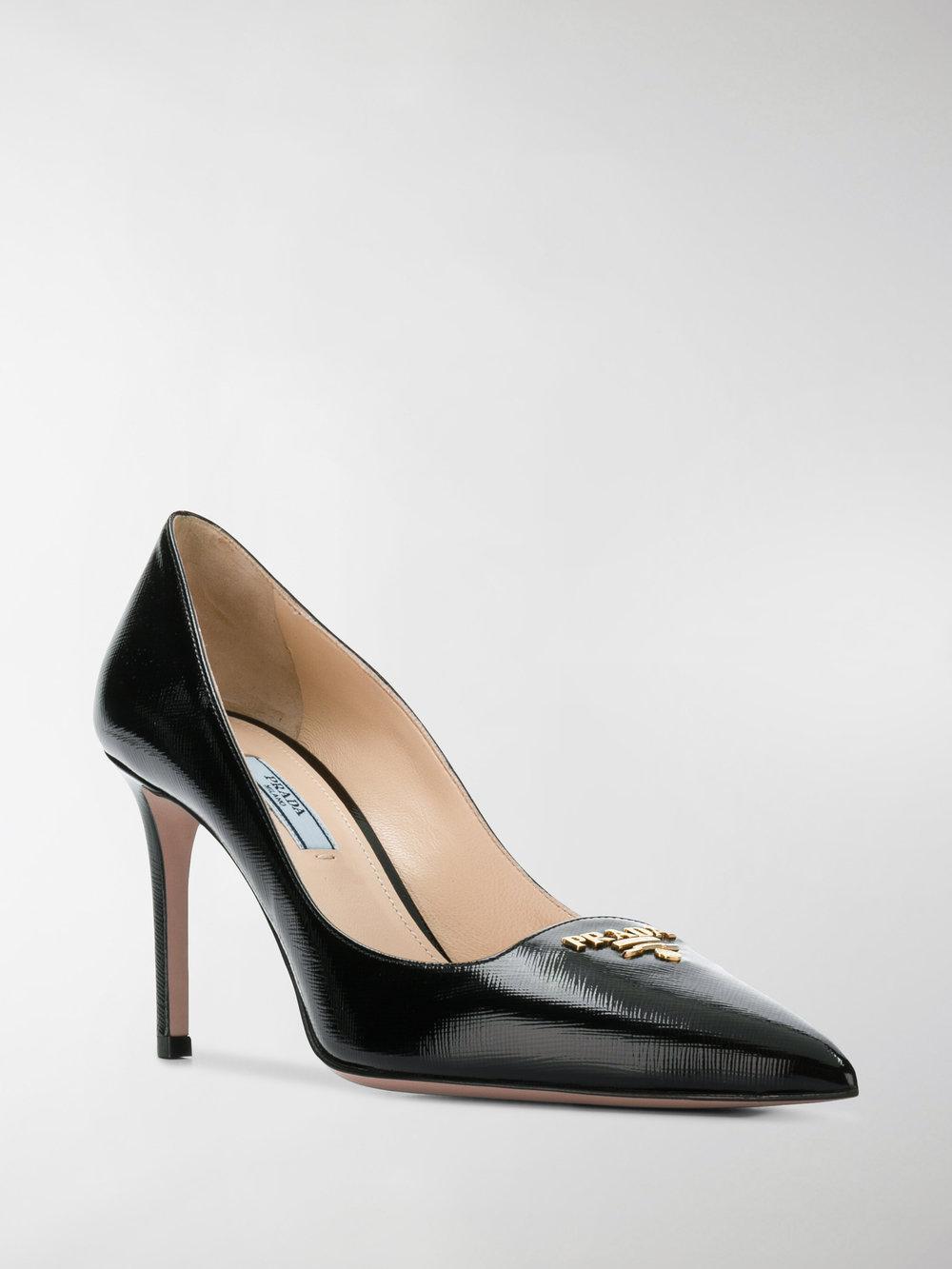 Prada Saffiano Textured Patent Leather