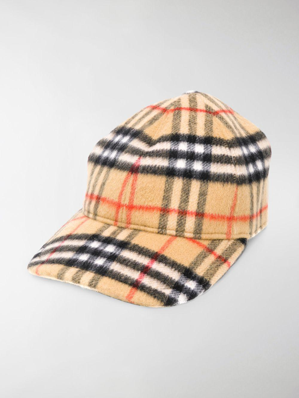 Lyst - Burberry Vintage Check Wool Baseball Cap in Yellow for Men 18307938152f