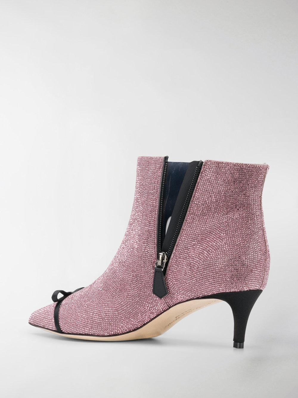 Marco De Vincenzo Women's Mxv107a3xsf13rt Pink Leather Ankle Boots