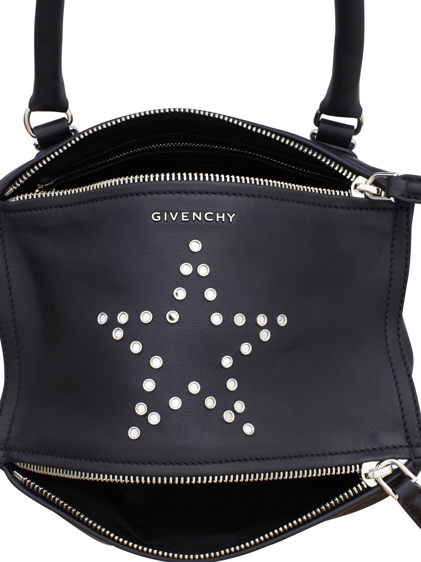 5b1c5d3187a0 Lyst - Givenchy Pandora Small Star Studded Leather Bag in Black