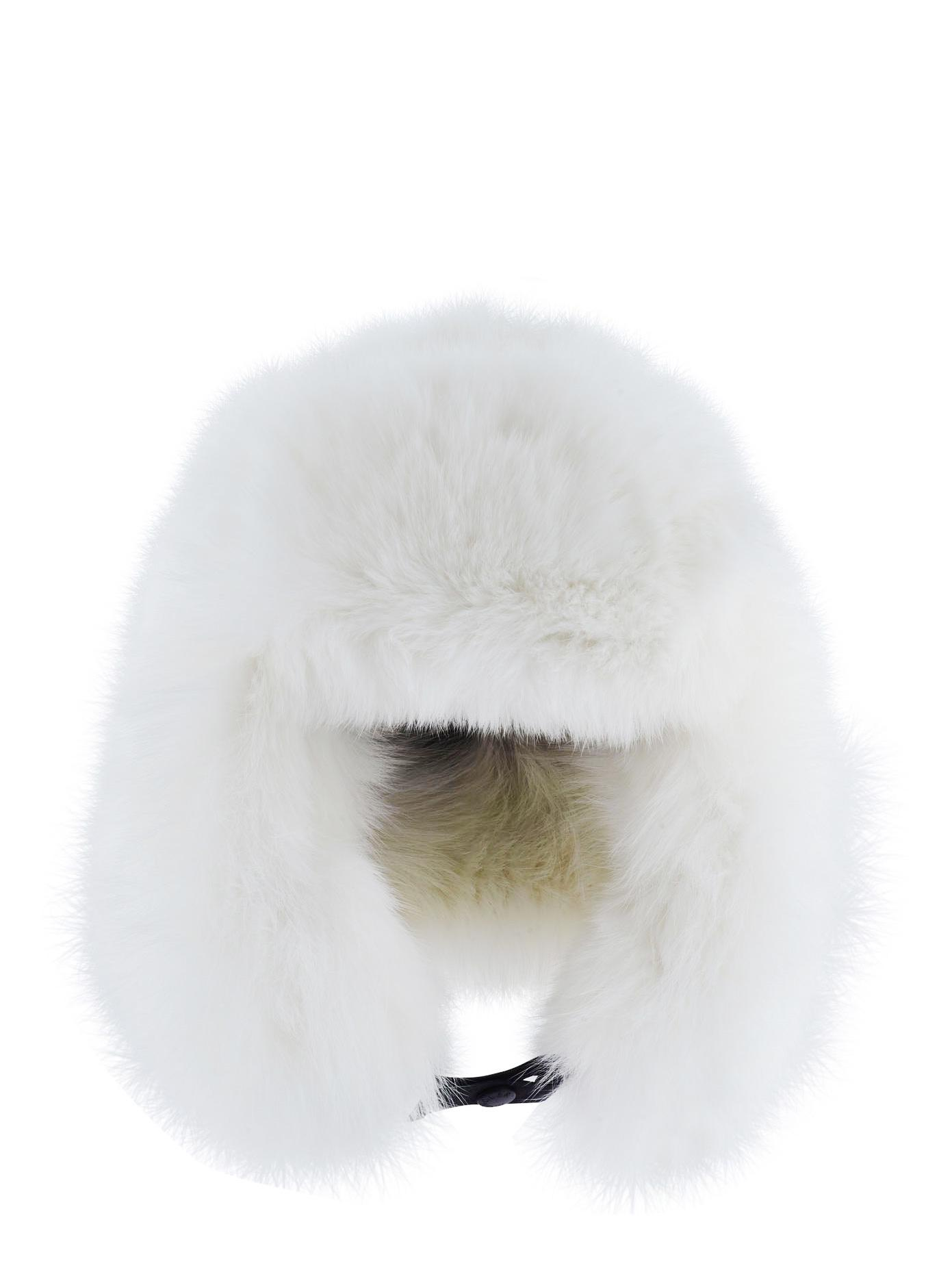 Lyst - Moncler Grenoble Fur Hat in White 93bea1c7eea