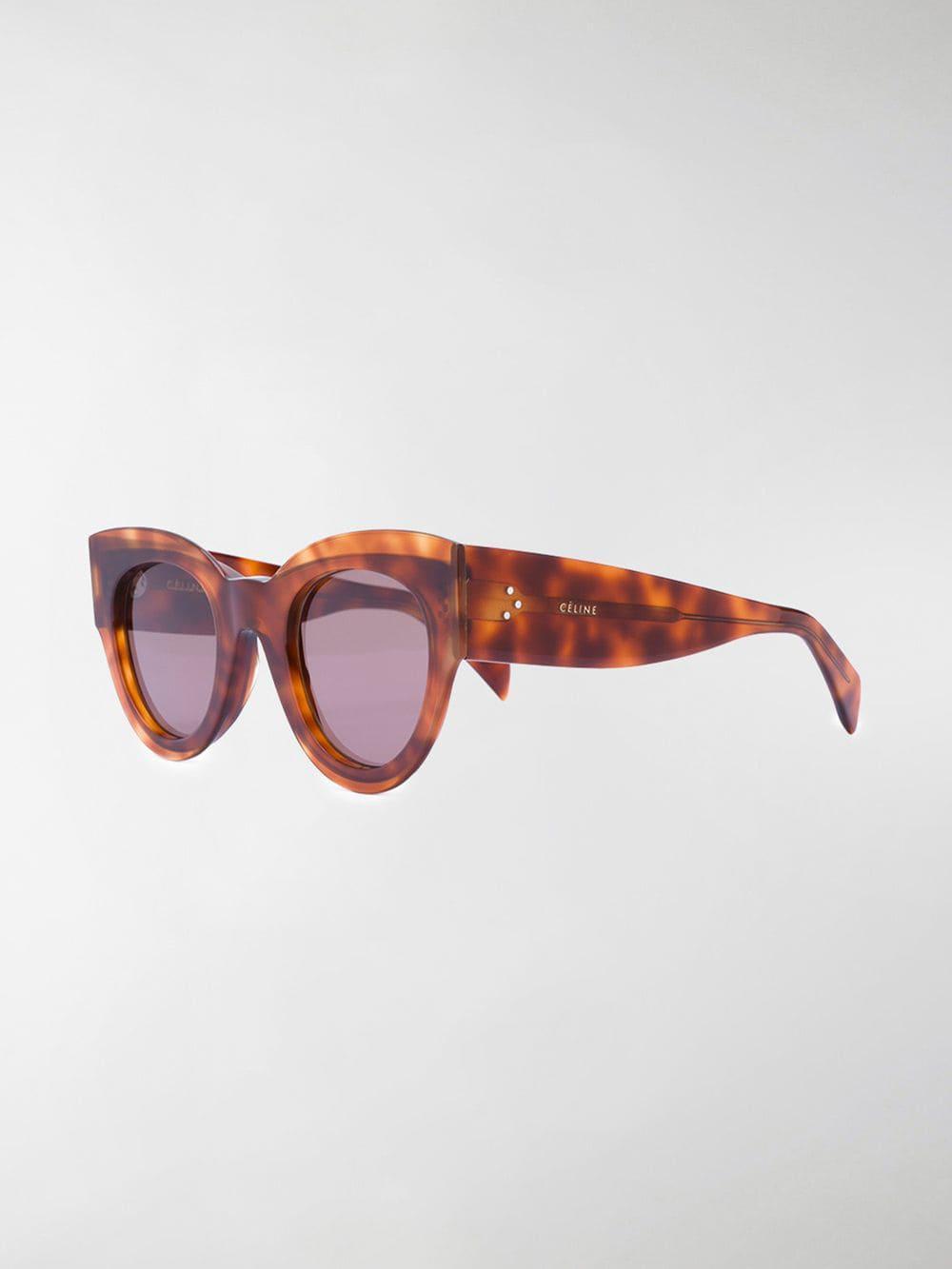 f8ed4e8510 Céline - Brown Petra Sunglasses - Lyst. View fullscreen