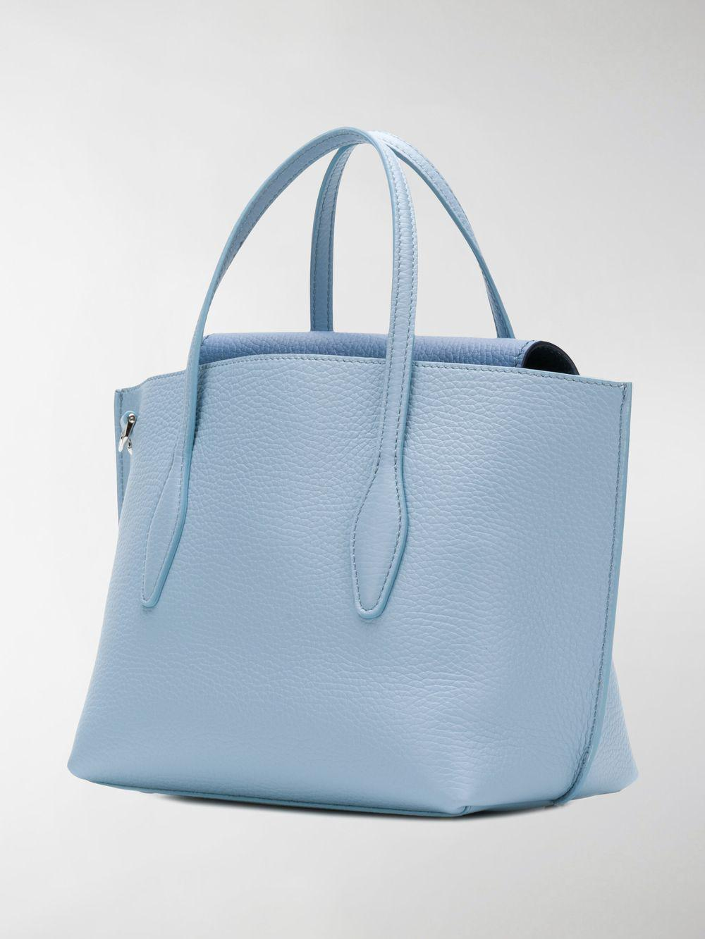Tod's Leather Joy Mini Tote in Blue