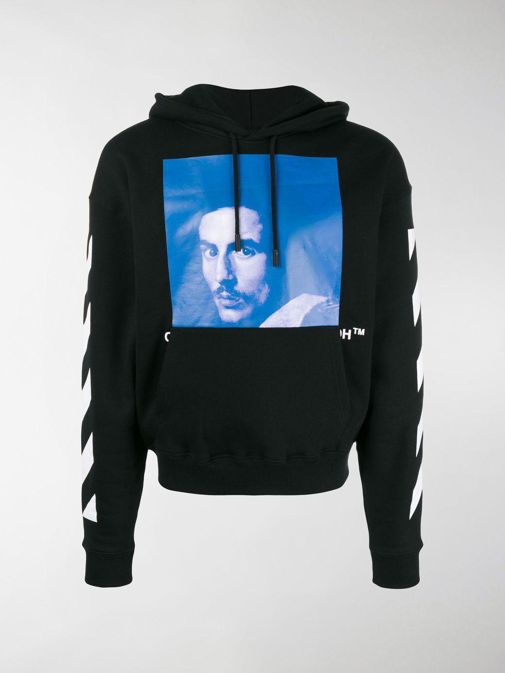 Off-White C O Virgil Abloh Bernini Print Hoodie in Black for Men - Lyst deb27ad32