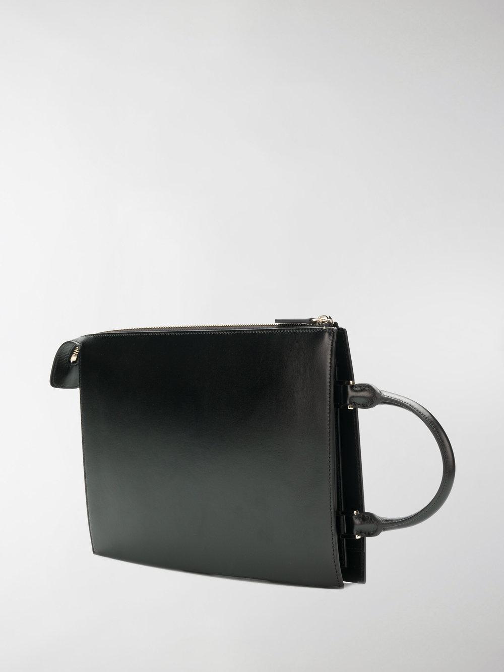 Jil Sander Leather Medium Crossbody Tote in Black