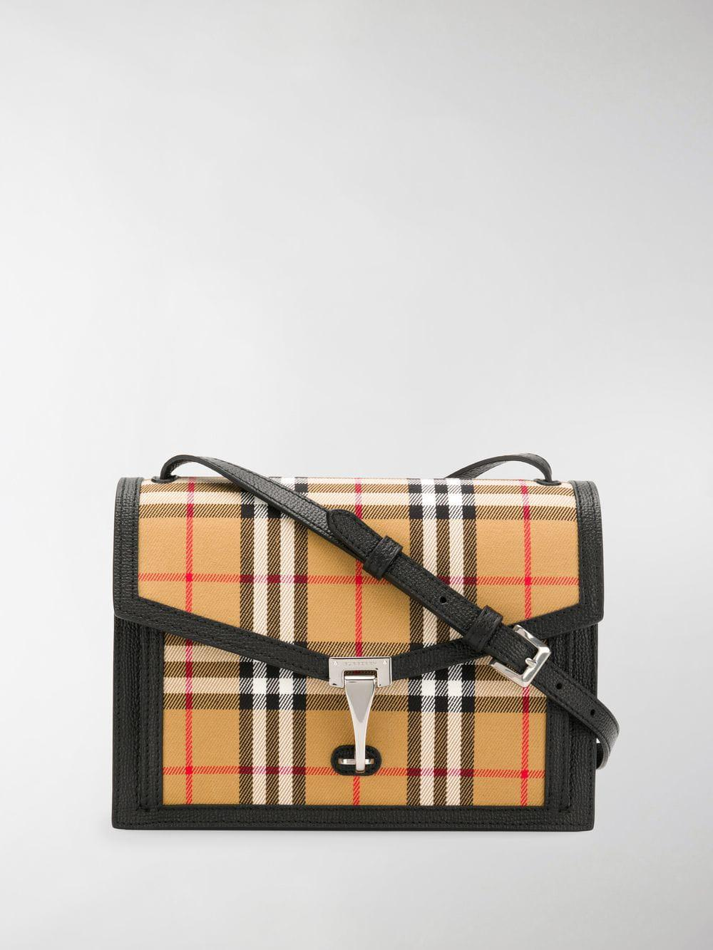 01c42fb72ce9 Burberry Check Crossbody Bag in Brown - Lyst