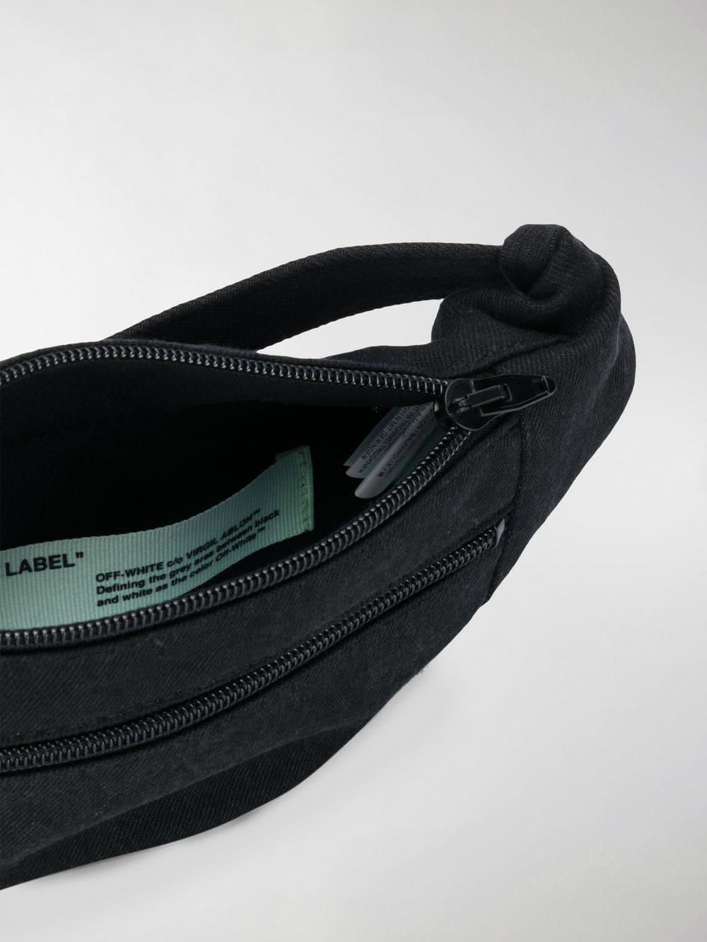 2d3443b953542 Off-White c/o Virgil Abloh - Black Denim Belt Bag for Men -. View fullscreen