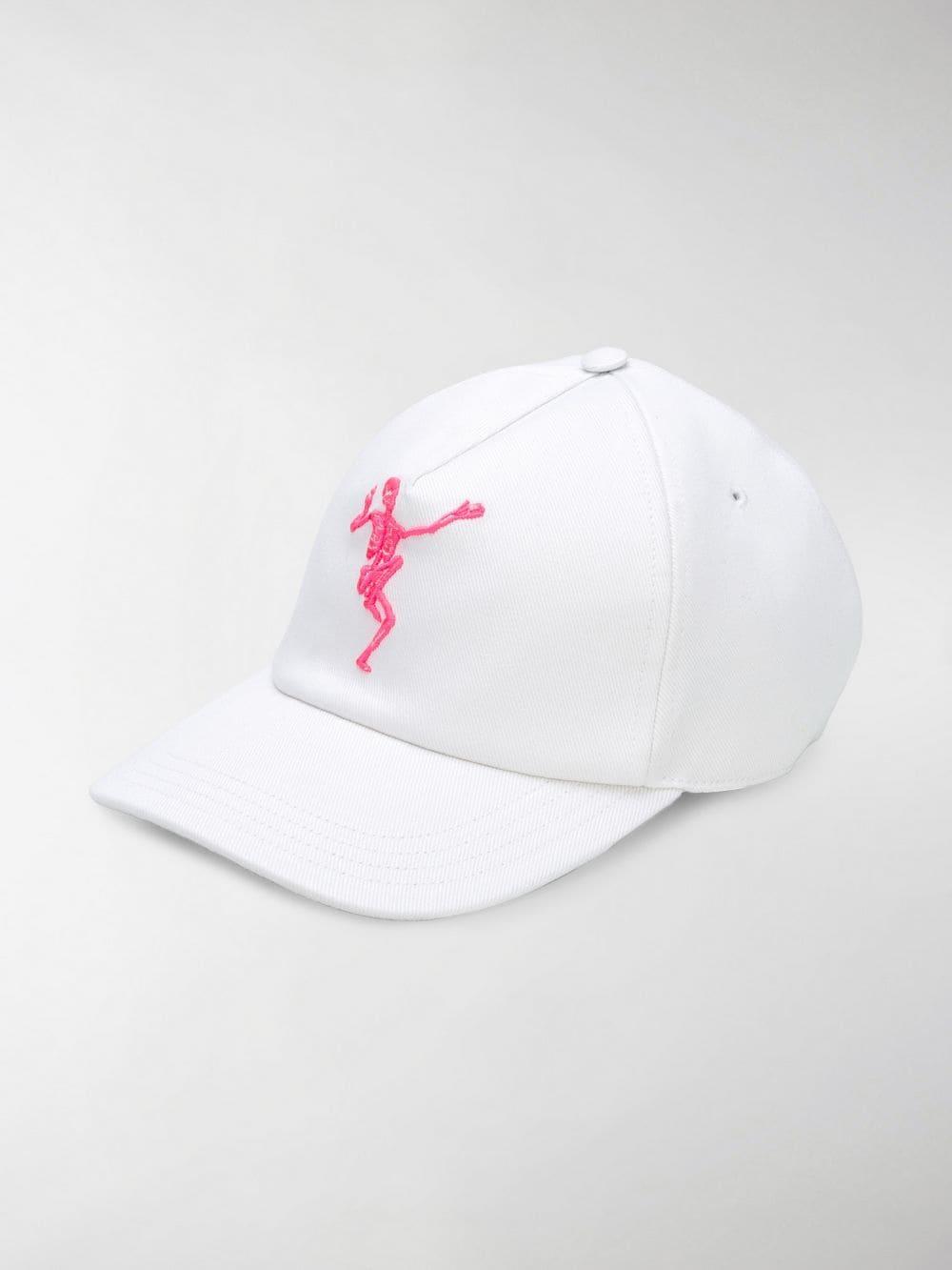 cc6bdc7aab67a3 Alexander McQueen Skeleton Baseball Cap in White for Men - Save 75 ...