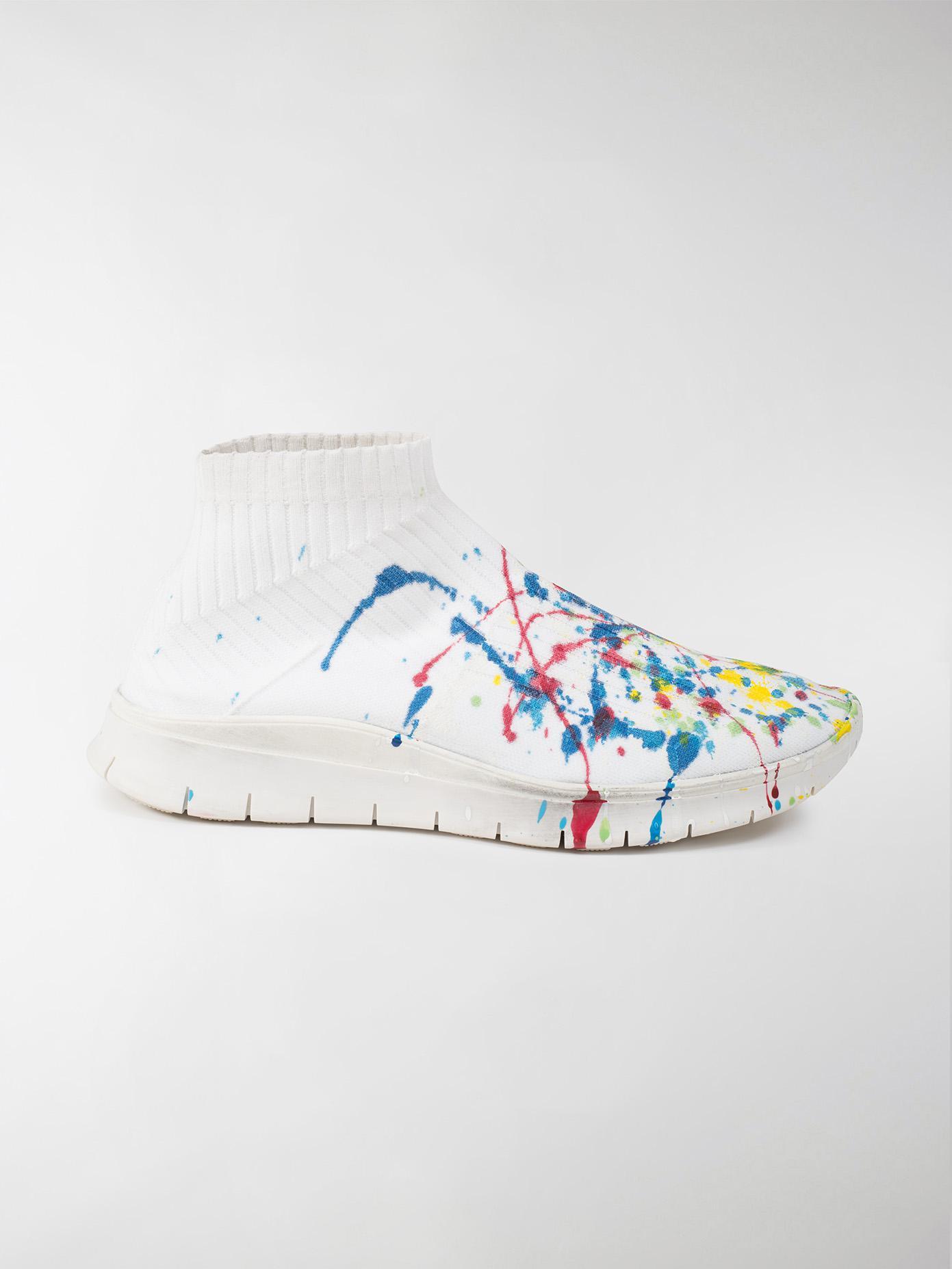 maison margiela paint splatter sock sneakers