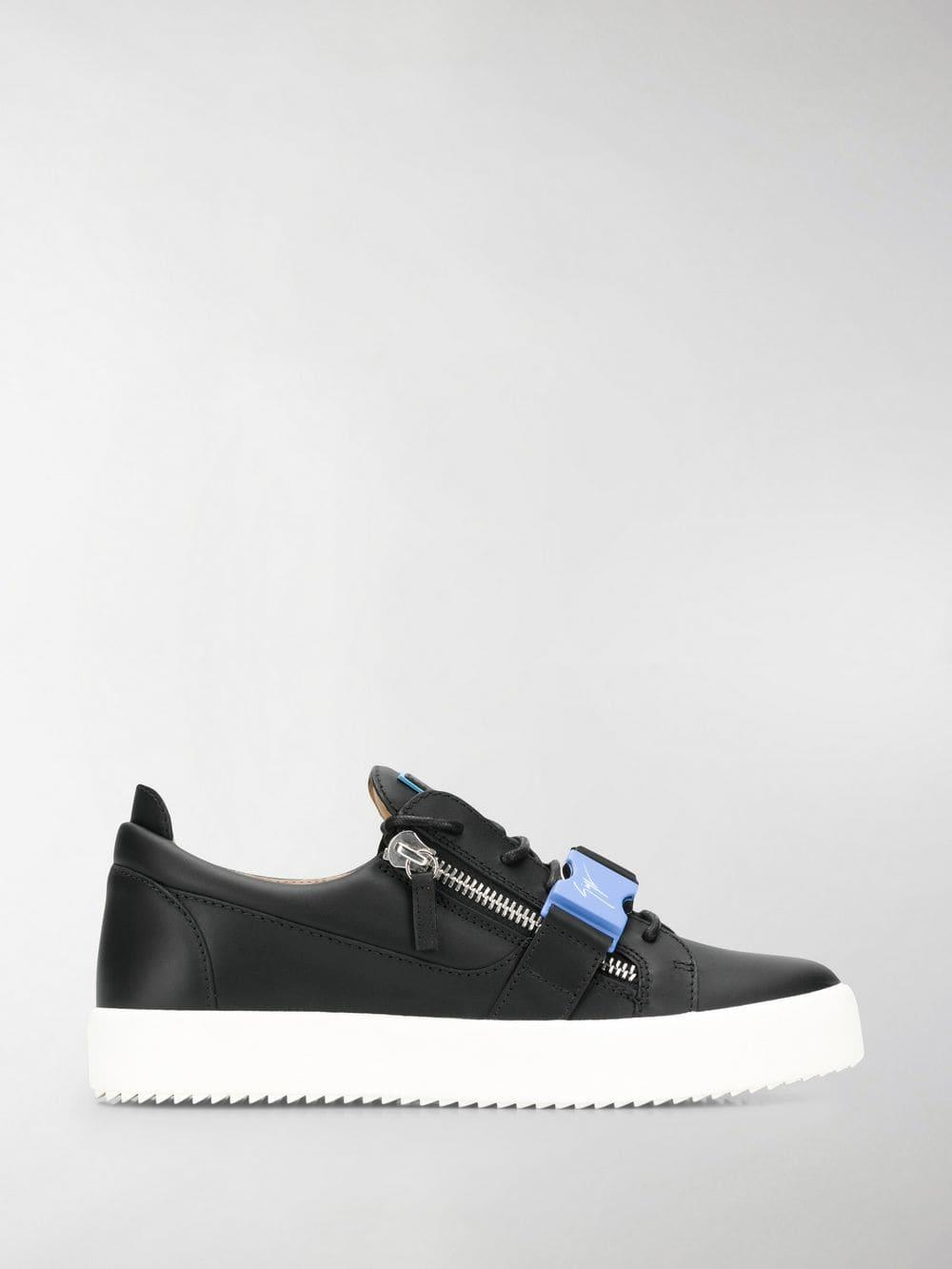 fee08f62174 Lyst - Giuseppe Zanotti Buckle May Low Top Trainers in Black for Men ...
