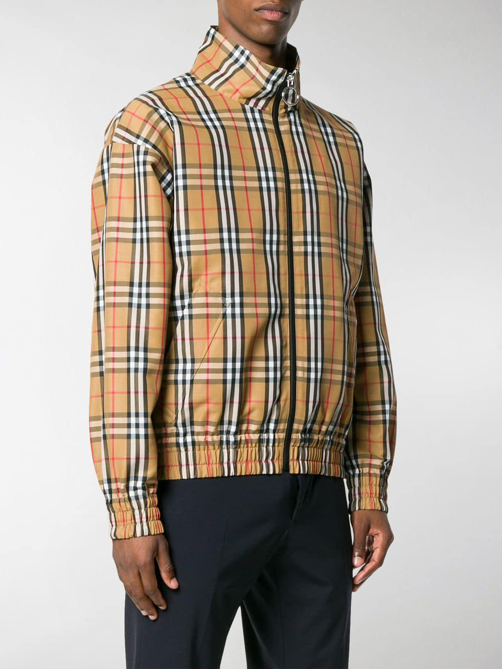 Burberry House Check-print Jacket in Brown for Men