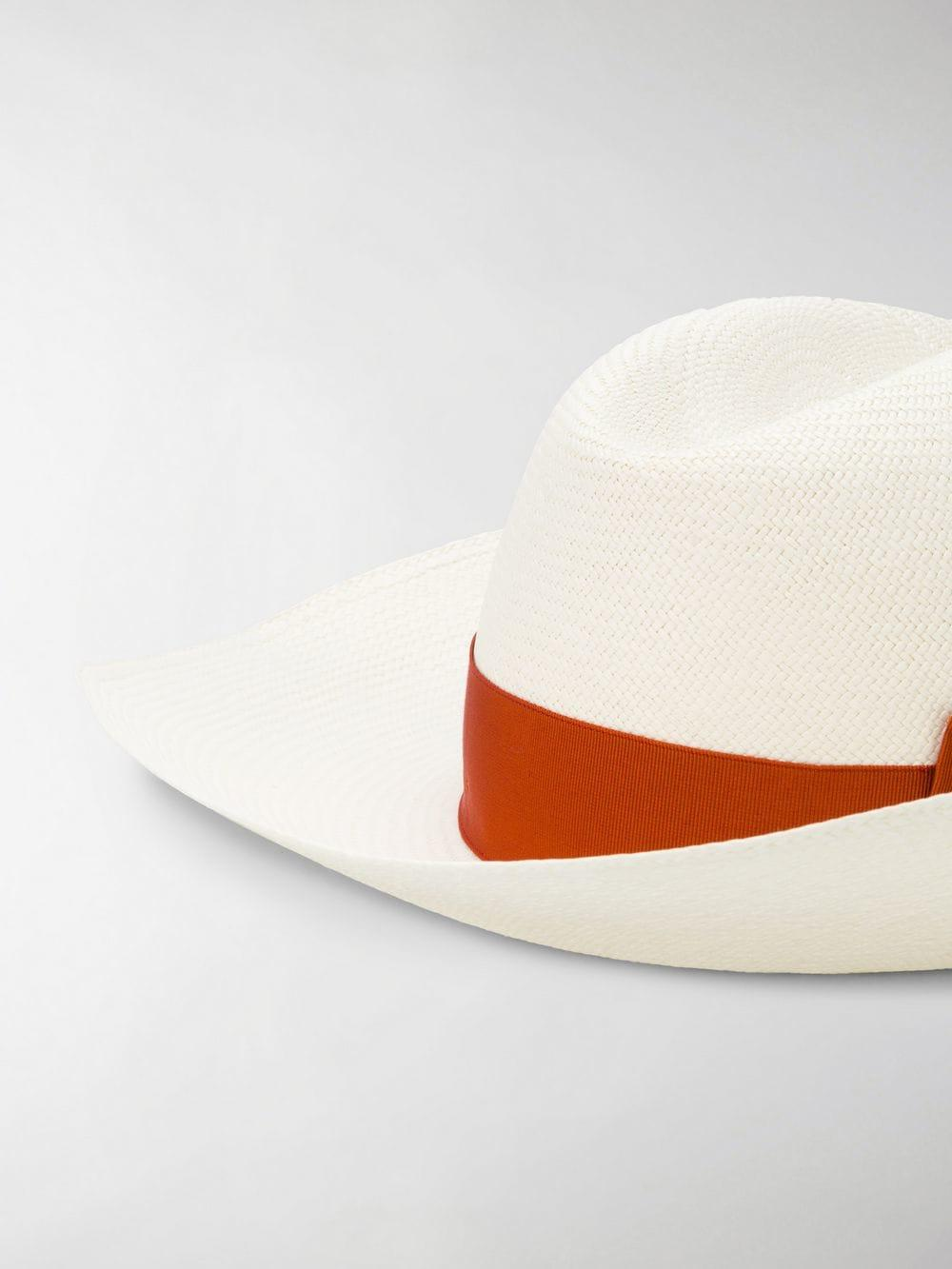 b3e0ec45e29b8 Borsalino - White Sophie Panama Hat - Lyst. View fullscreen
