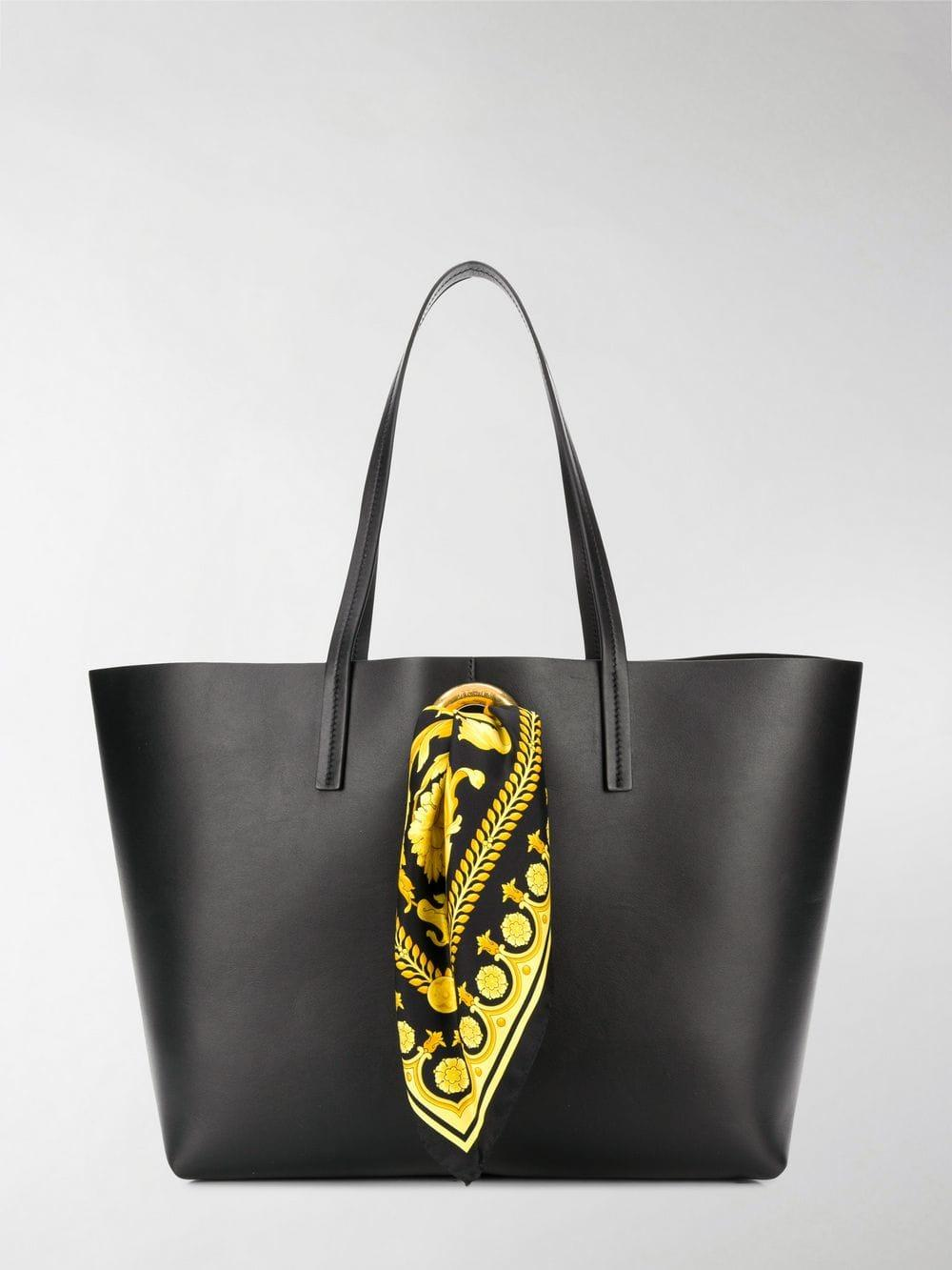 e58a49d5a757 Lyst - Versace Baroque Scarf Tote Bag in Black