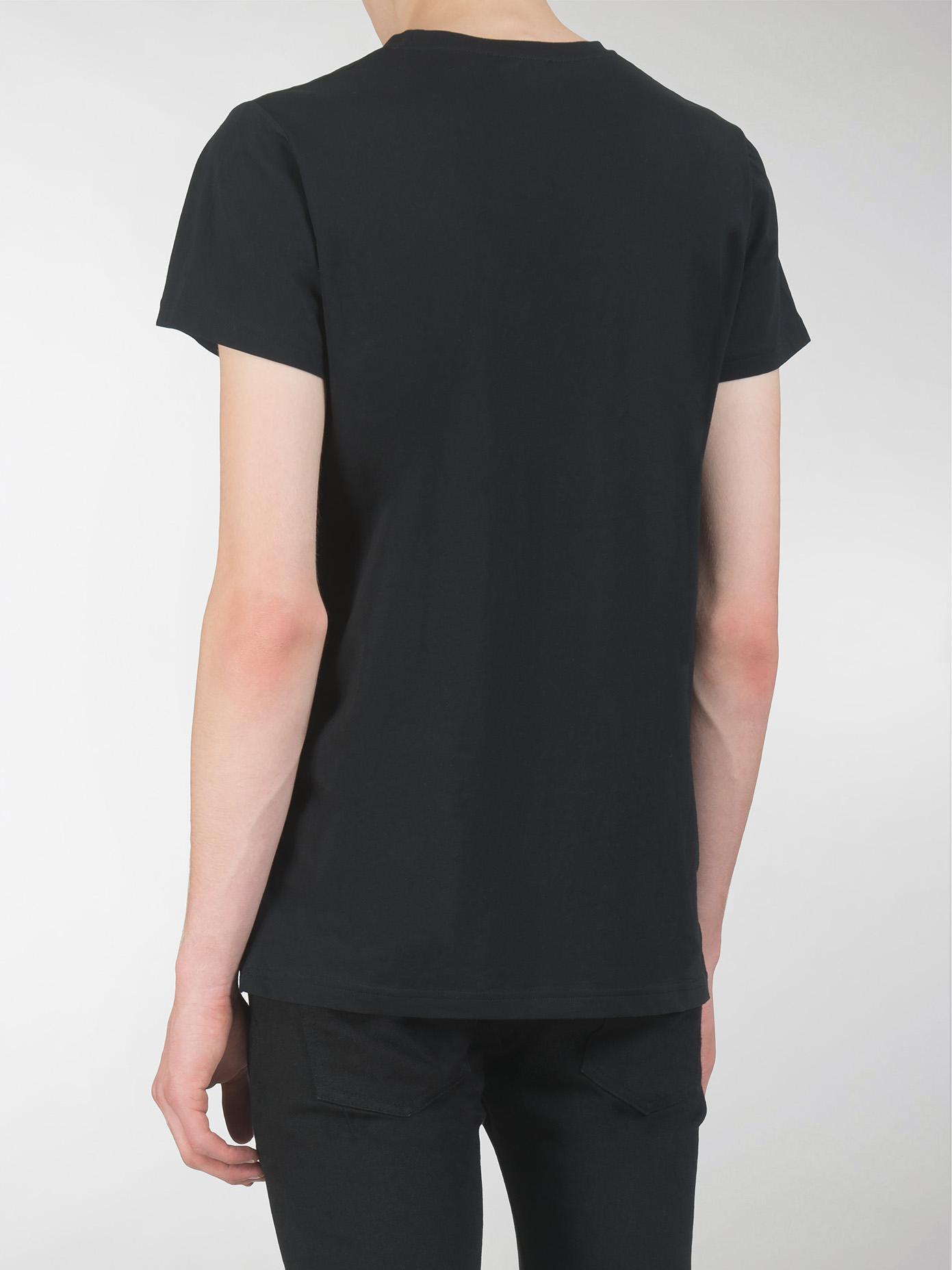 balmain tshirt blanc print paris noir in black for men lyst. Black Bedroom Furniture Sets. Home Design Ideas
