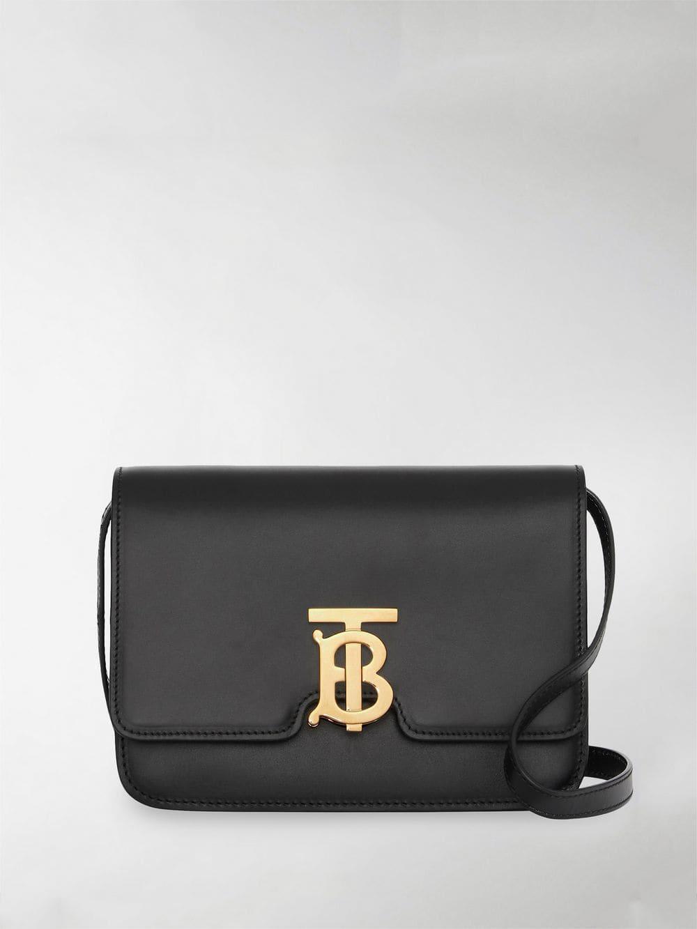 f6d7dd9f7b21 Lyst - Burberry Small Tb Monogram Bag in Black - Save 20%