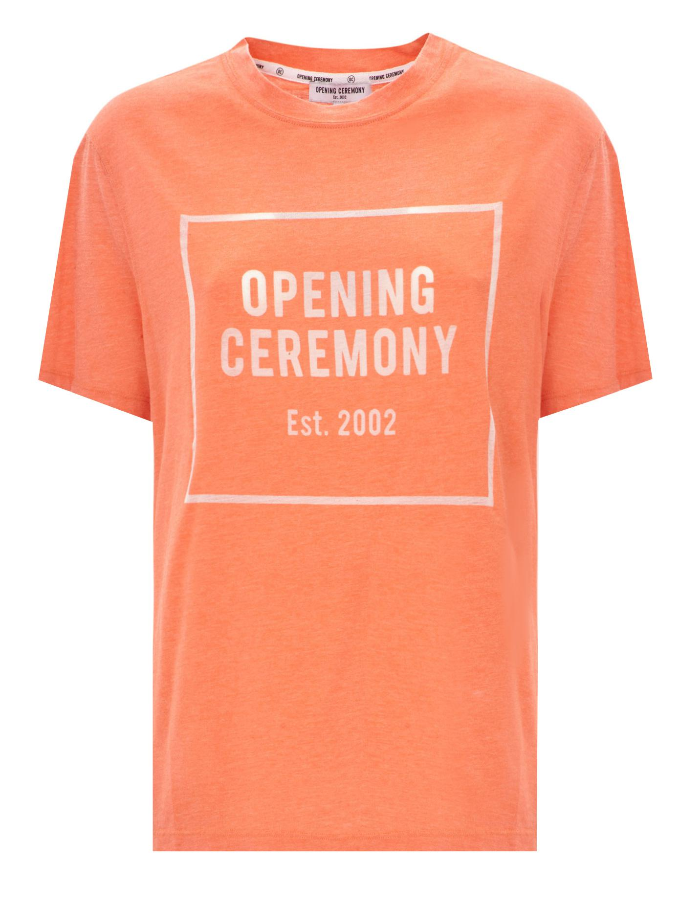 Opening Ceremony Fall 2015: Opening Ceremony Logo T-shirt In Orange