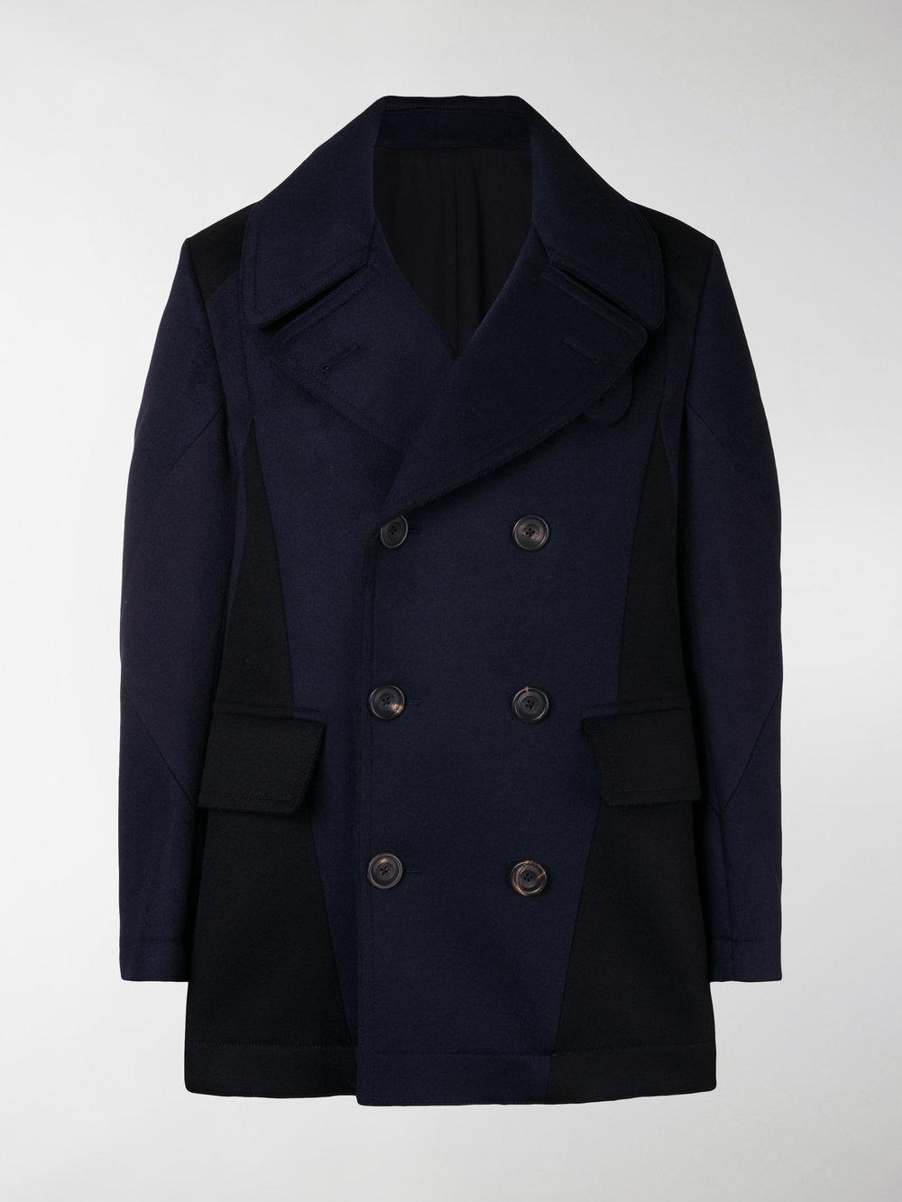 542cdaa1d4b5 Lyst - Alexander Mcqueen Double Breasted Coat in Blue for Men