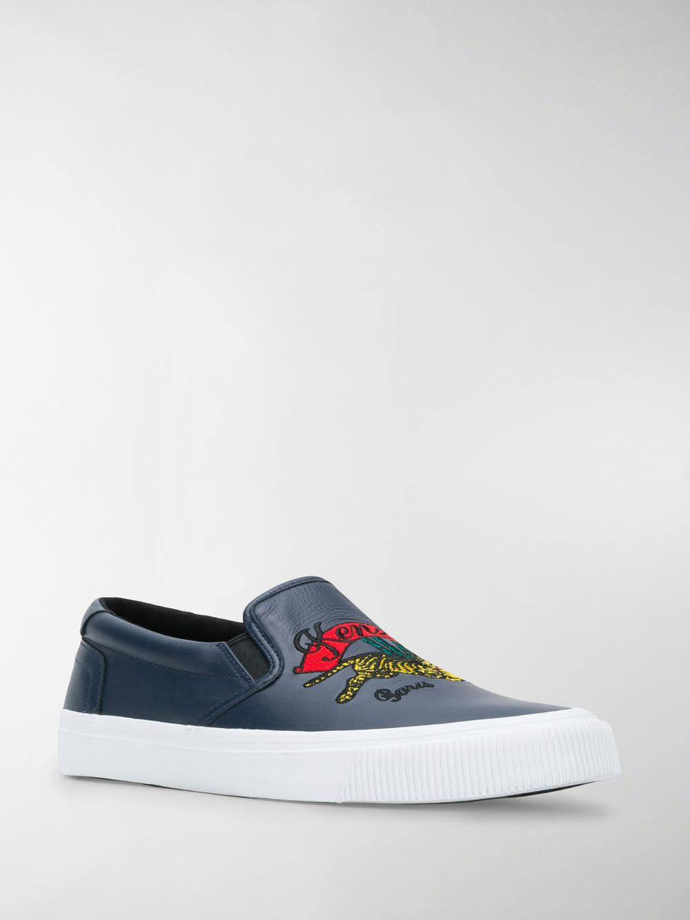 cff6348d53a Lyst - KENZO K-skate Jumping Tiger Sneakers in Blue for Men