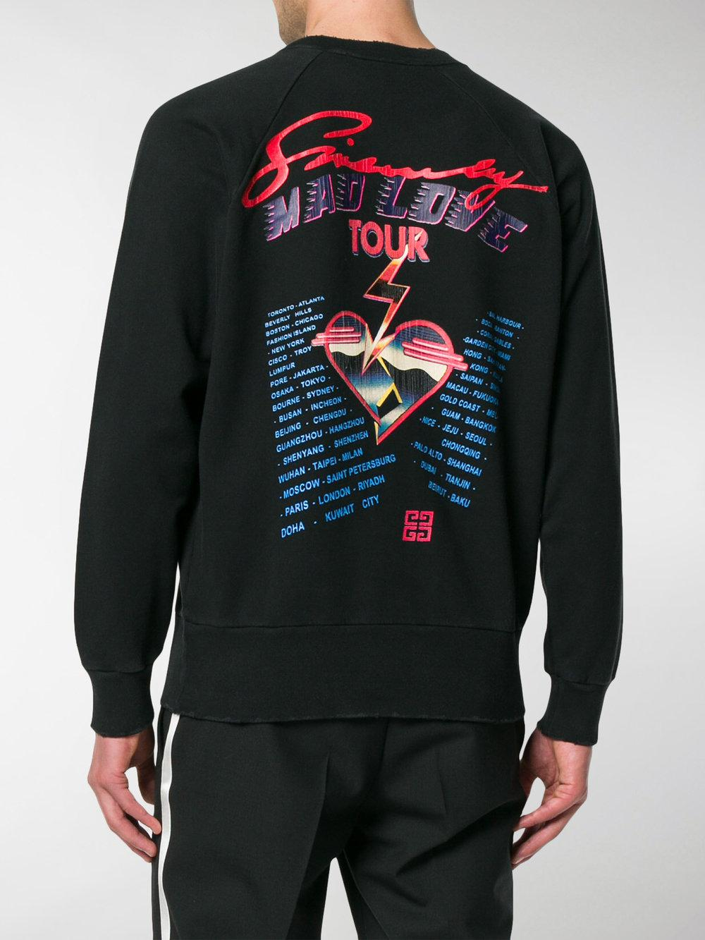 Givenchy Cotton Lightning Bolt Arrow Sweatshirt in Black for Men