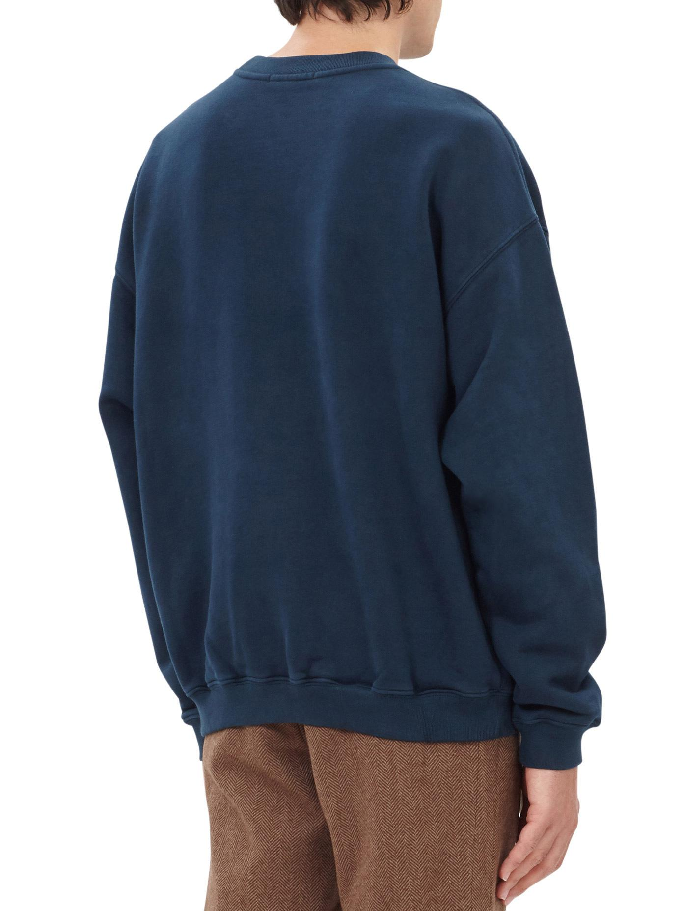 Yeezy Cotton Boxy Zip Hoody in Blue for Men
