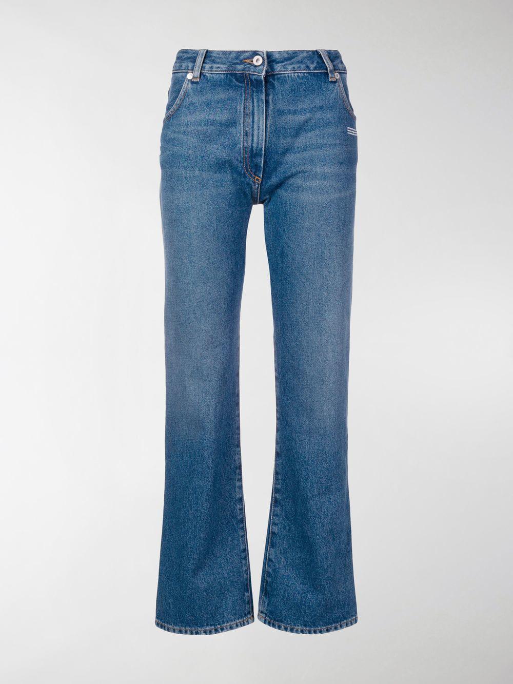 a456b2435b5c Off-White C O Virgil Abloh Regular Fit Jeans in Blue - Lyst