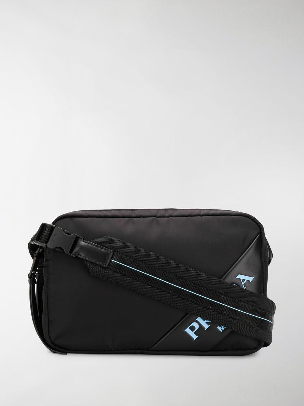 75e1f9c17d Lyst - Prada Logo Crossbody Bag in Black