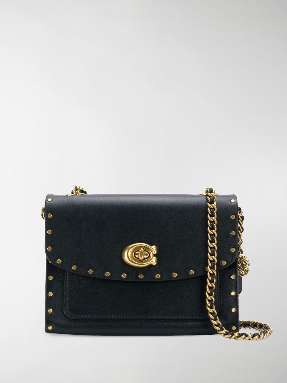 Lyst - COACH Parker Shoulder Bag in Black 319540653cf88