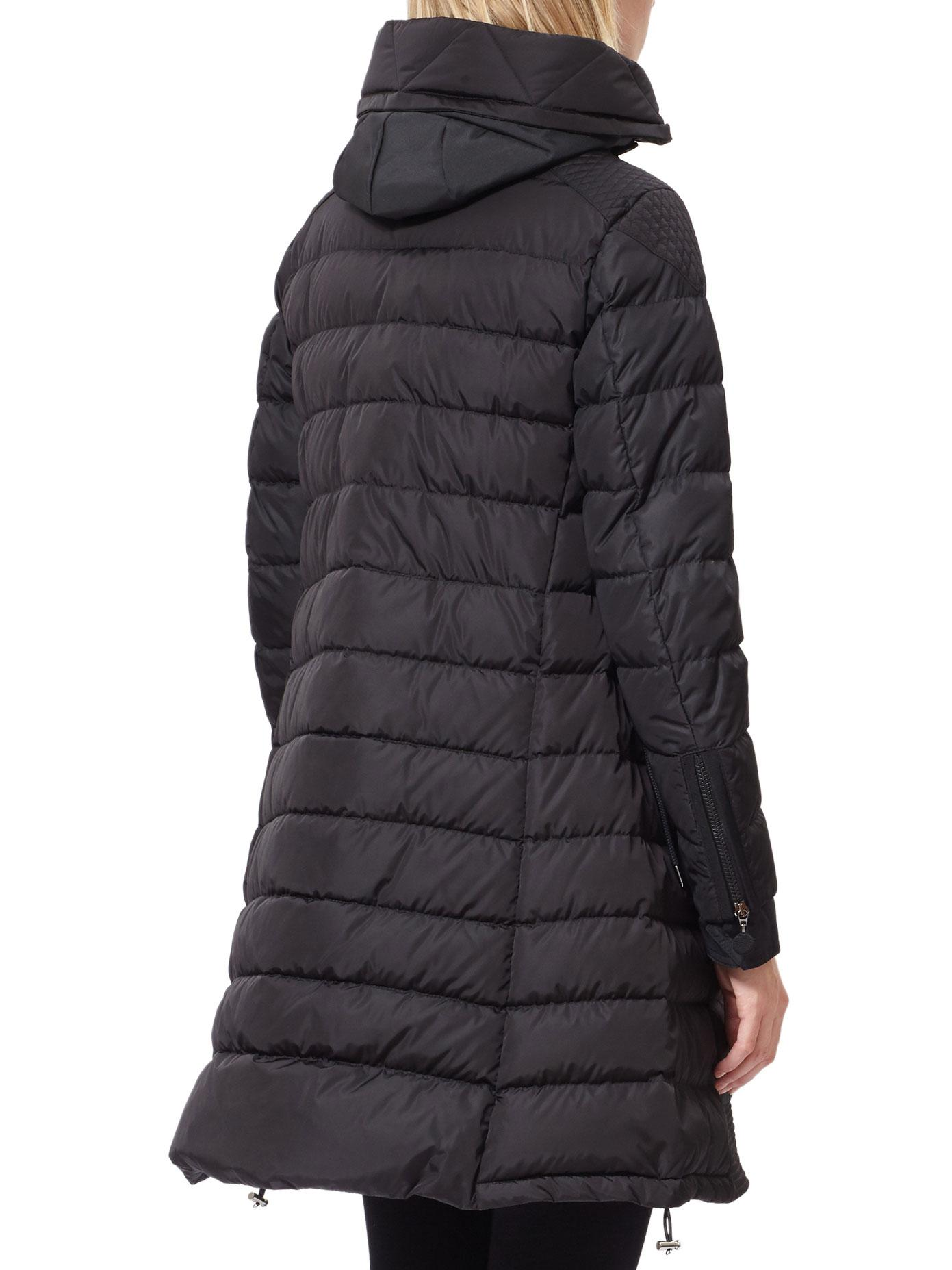 Moncler Synthetic Christabel Longline Padded Down Jacket ...