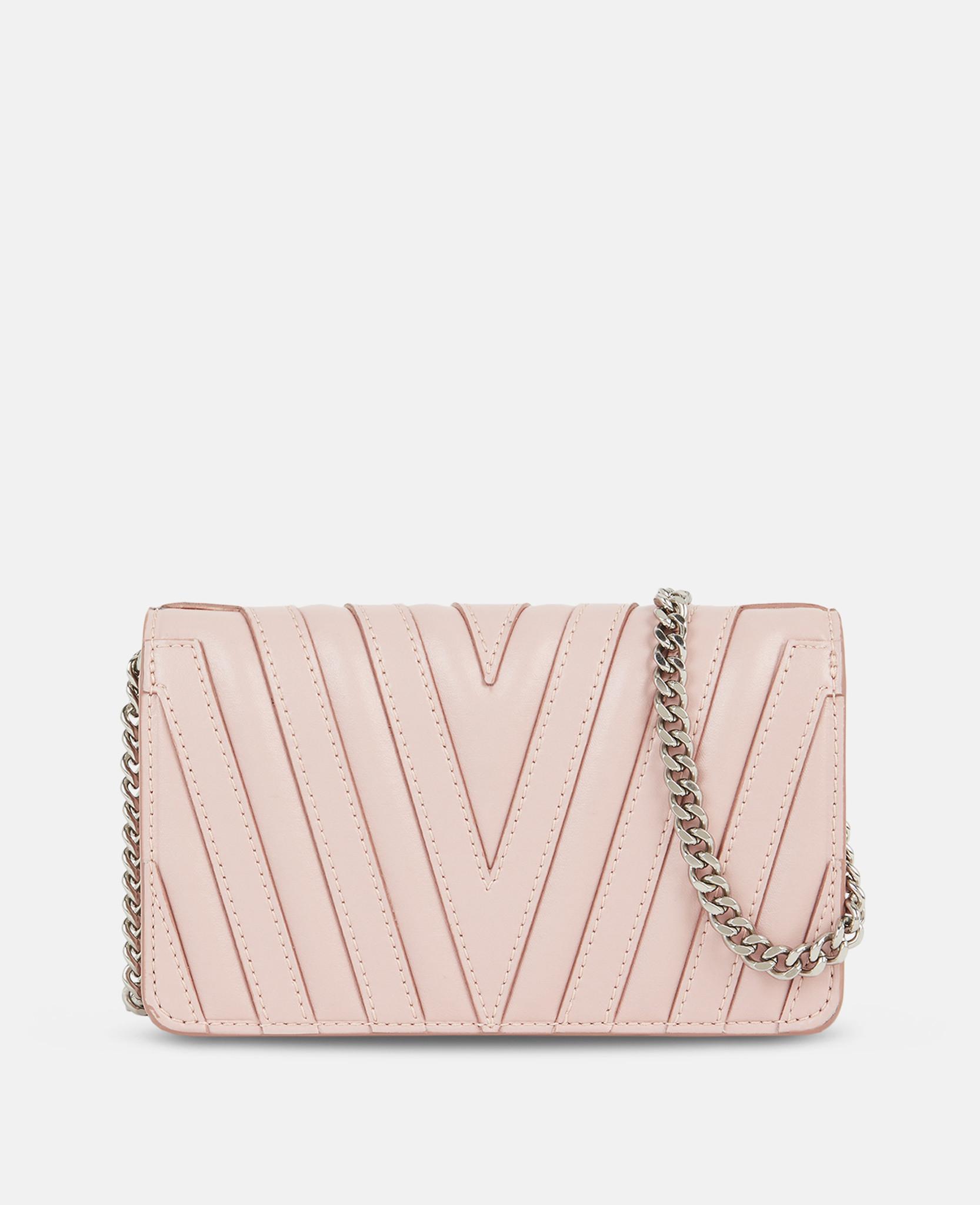 Stella McCartney Stella Star Small Flap-over Shoulder Bag in Pink - Lyst b78f9af00d8f9