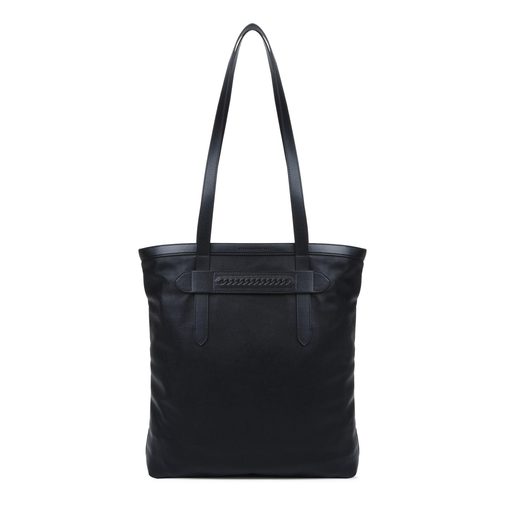 Oversize Alter Nappa East West Stella Logo Tote Bag in Black Eco Leather Stella McCartney OaSkTjhO