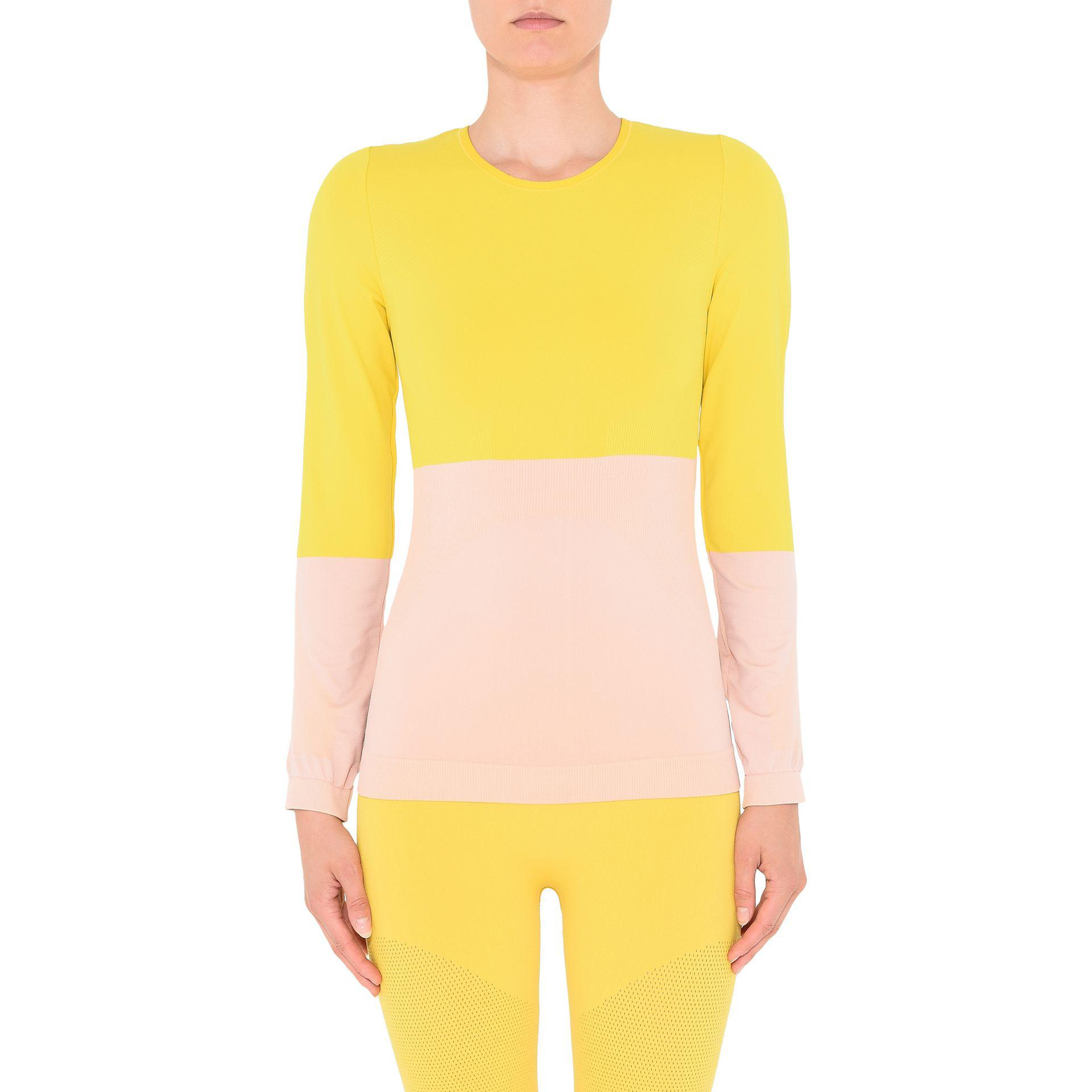 Adidas By Stella Mccartney Seamless Yoga Top In Yellow