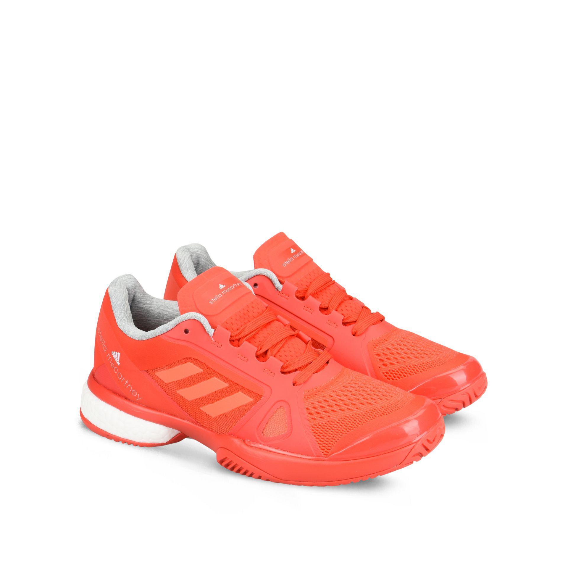 db94d2aaf5c Lyst - adidas By Stella McCartney Red Boost Barricade Tennis Shoes ...