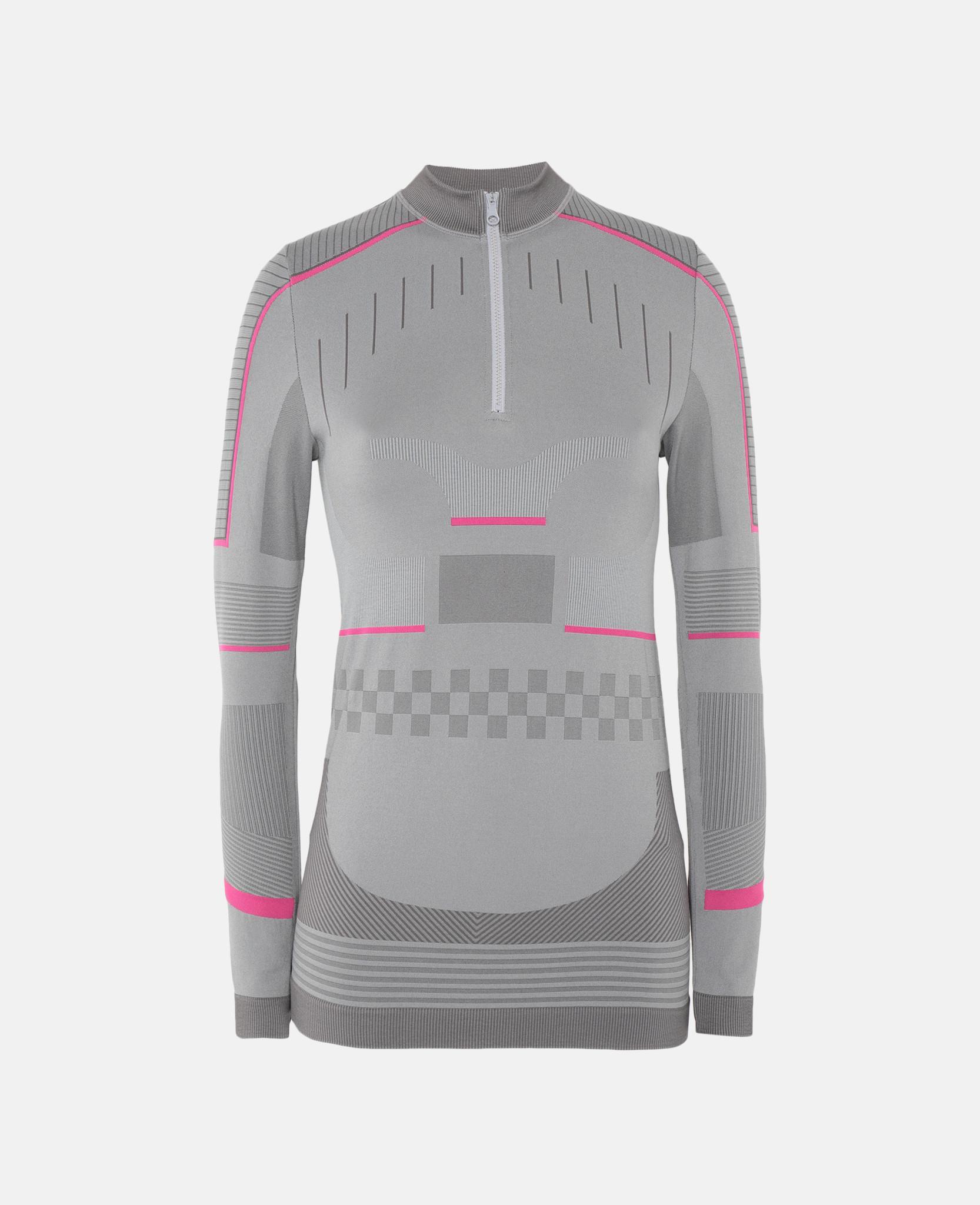 b4f7f146 adidas By Stella McCartney Grey Training Seamless Long Sleeve Shirt ...