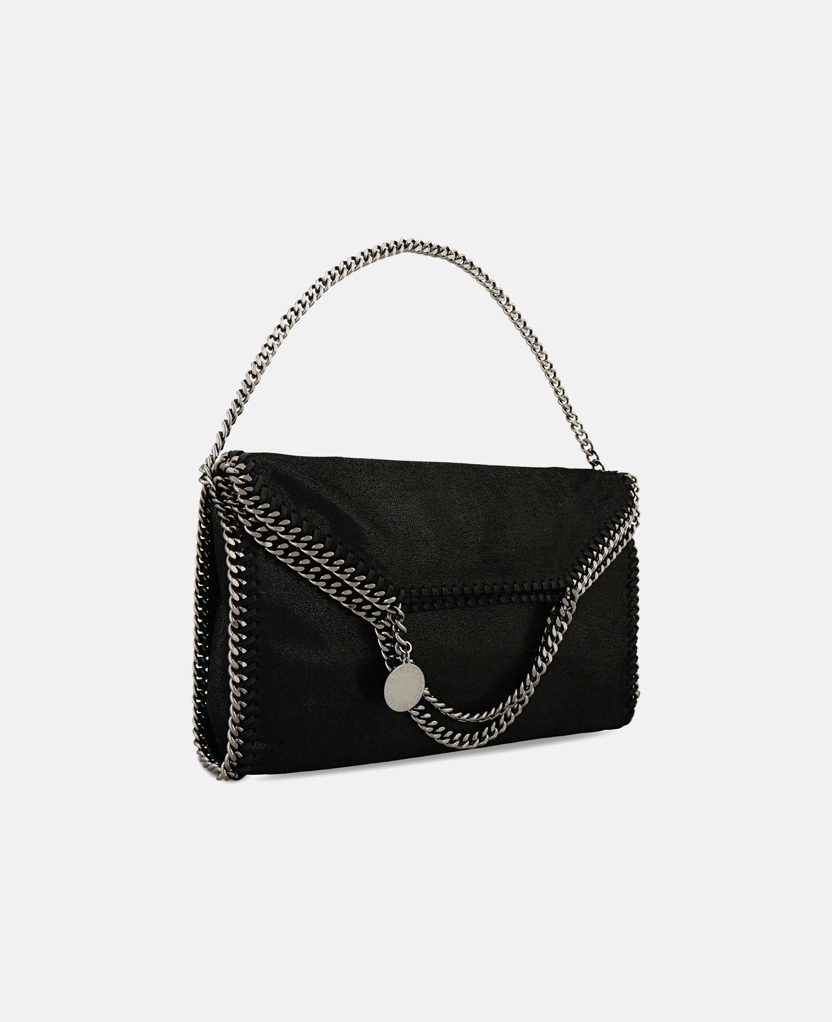 fc92ea333ec0 Lyst - Stella McCartney Black Falabella Shaggy Deer Fold Over Tote ...