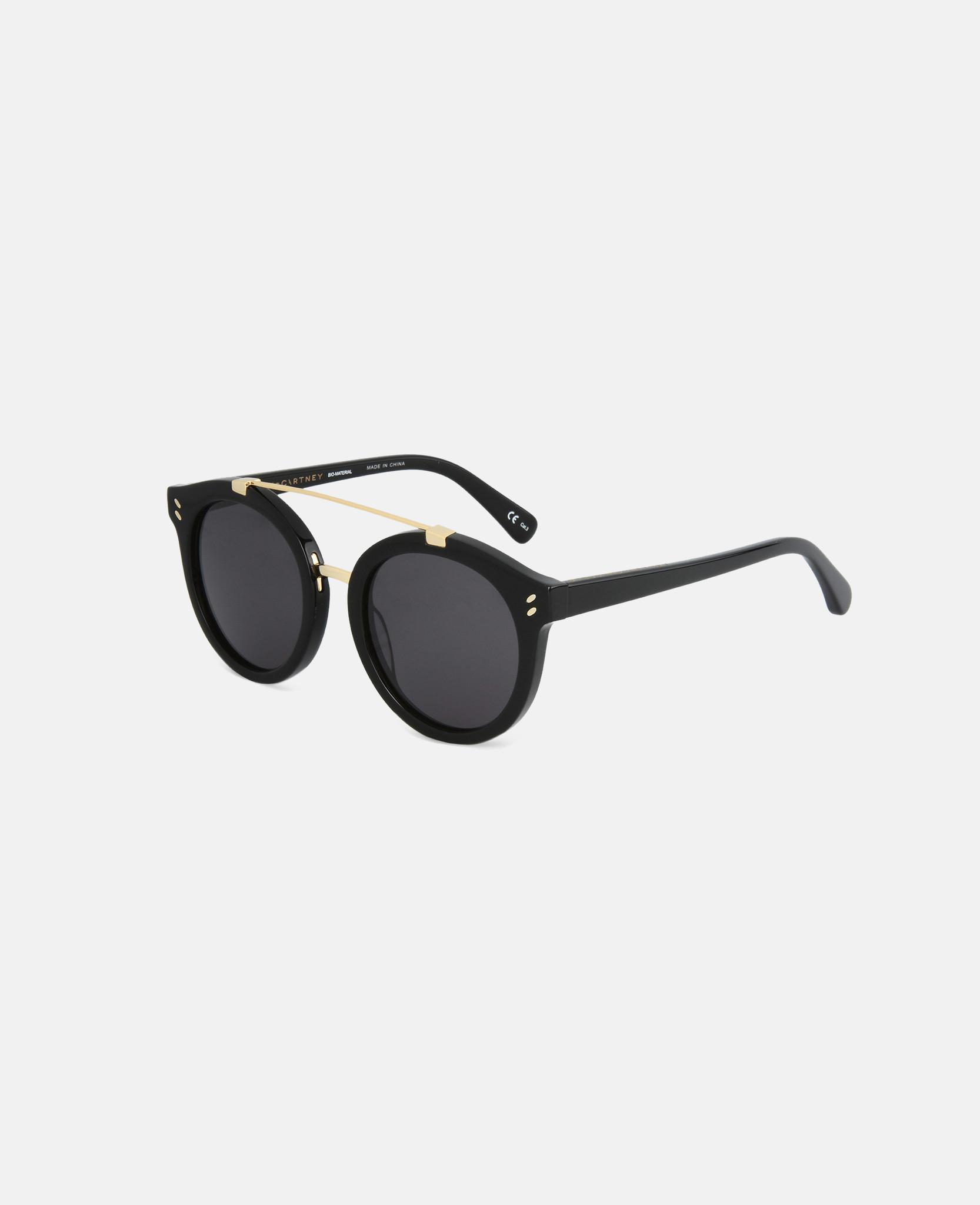adebba1daa Lyst - Stella McCartney Black Havana Round Frame Sunglasses in Black