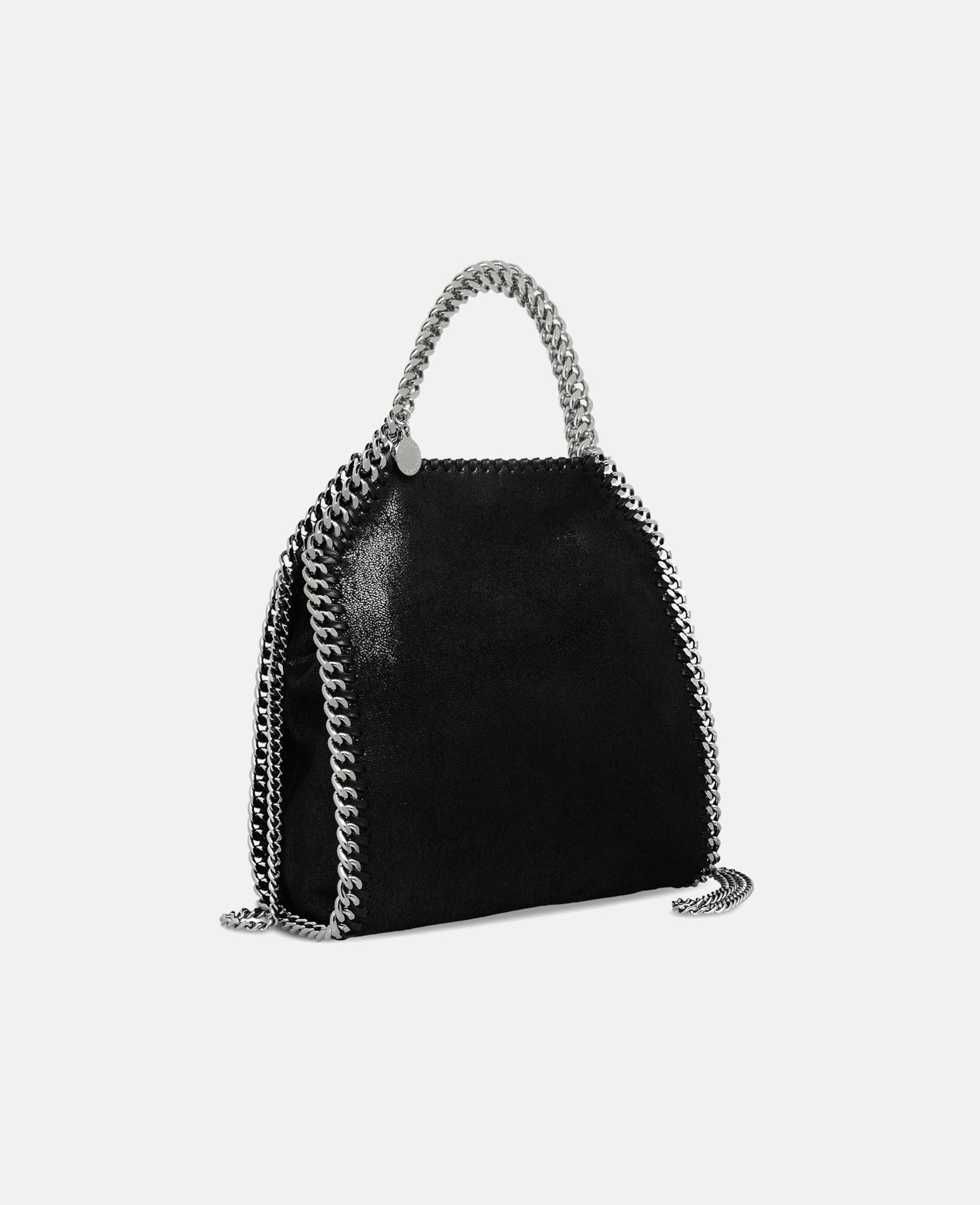 6e632f1d326 Stella McCartney Falabella Shaggy Deer Mini Tote in Black - Lyst