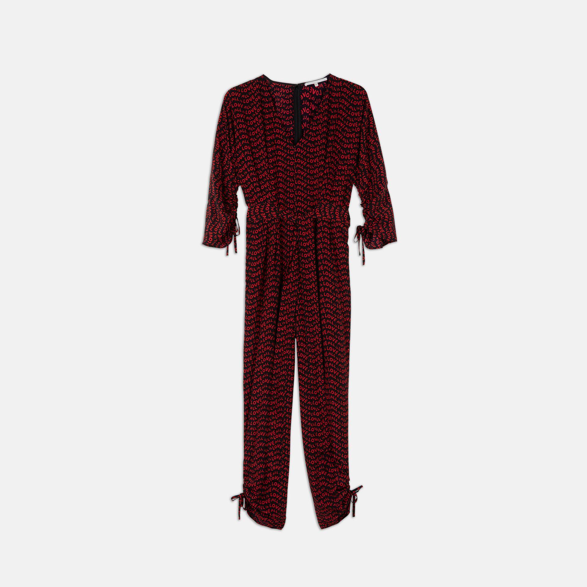 960488f35a7 Lyst - Stella McCartney All Is Love Silk Jumpsuit in Black
