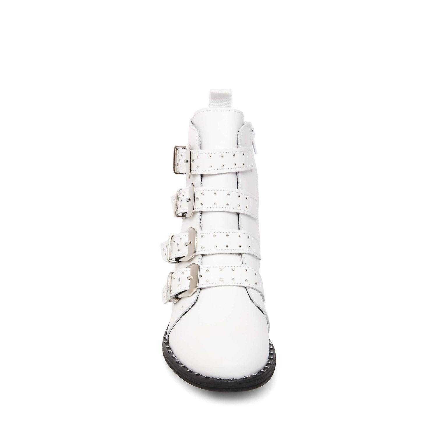 5b30efdf2e7 Lyst - Steve Madden Pursue Motorcycle Boot in White