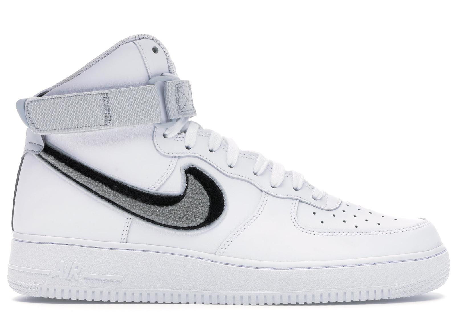 Nike Air Force 1 High 3d Chenille White Grey Black In Gray For Men