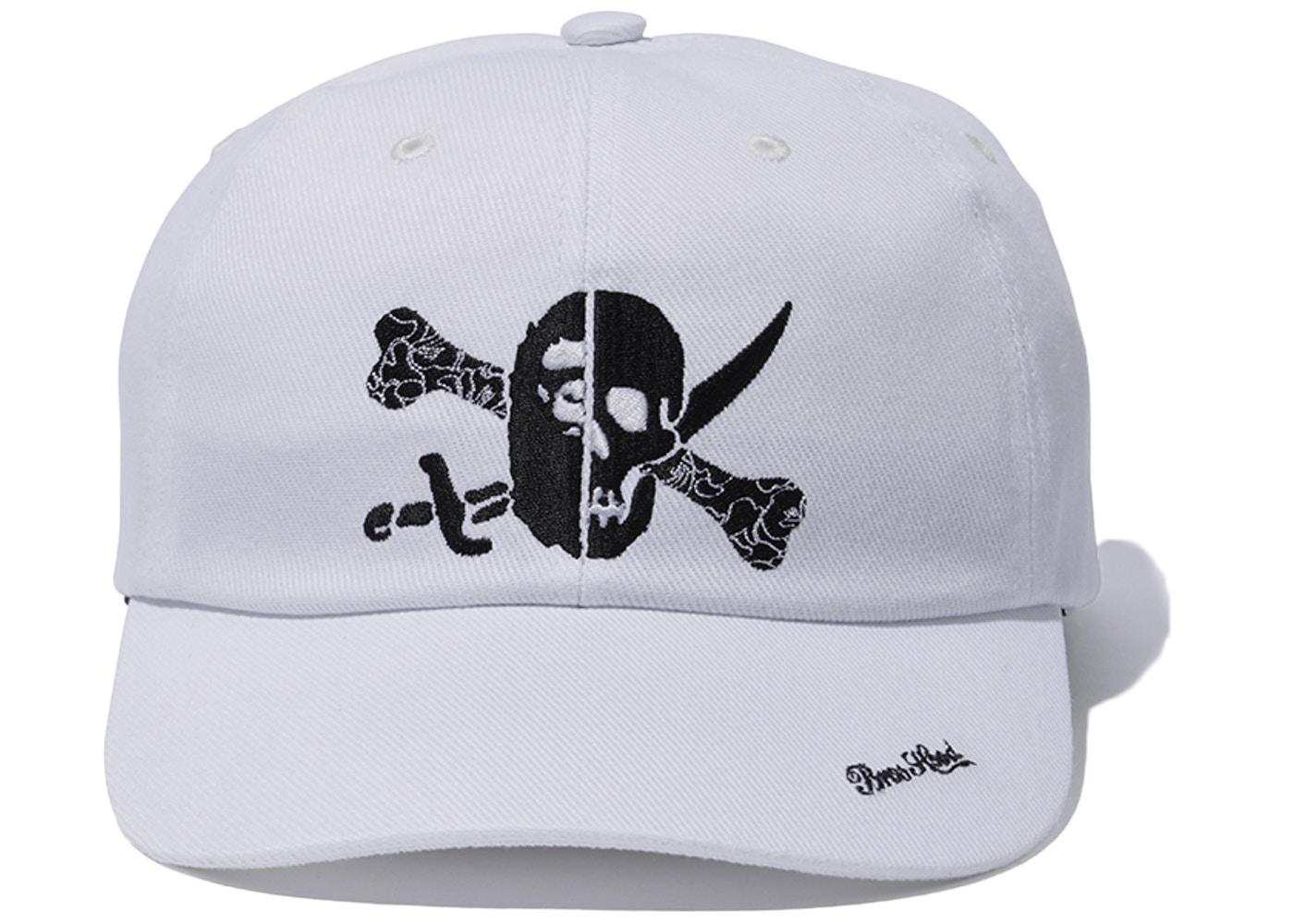 719a56c90472b A Bathing Ape X Neighborhood Ape   Skull Cap White in White for Men ...