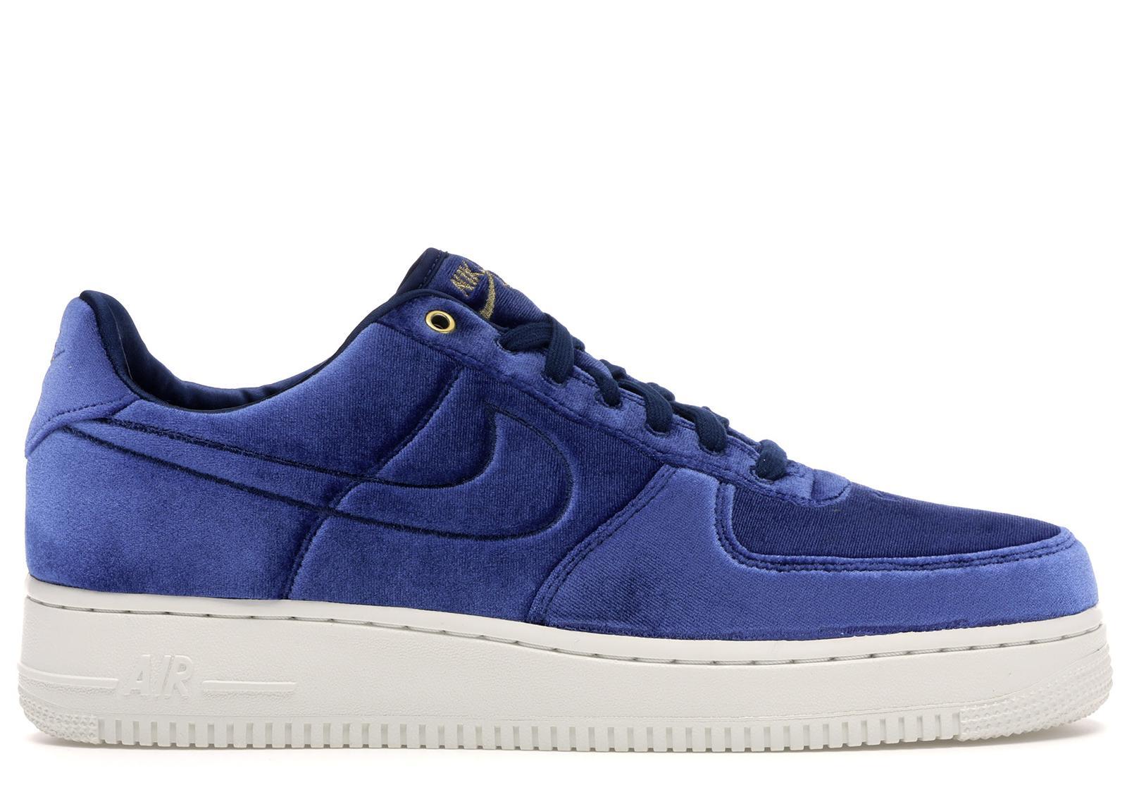 Nike Air Force 1 Low Premium 3 Velour Blue Void for Men - Lyst