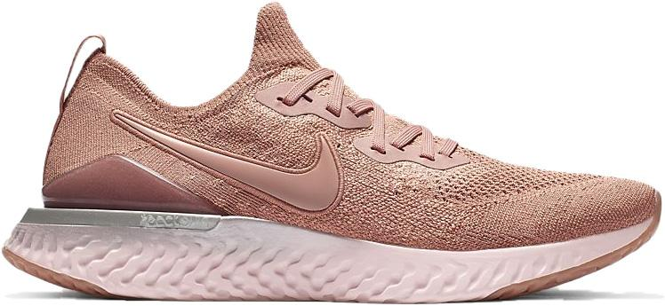 nike epic react flyknit 2 trainers rose gold barely rose