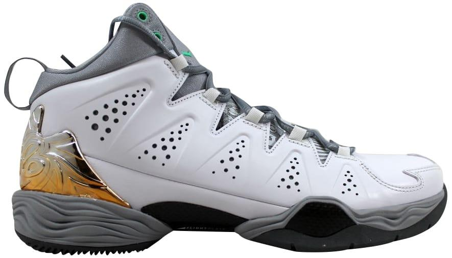 cheap for discount 0c954 9a8ee Men's Air Melo M10 White/green Glow-wolf Grey-cool Gray