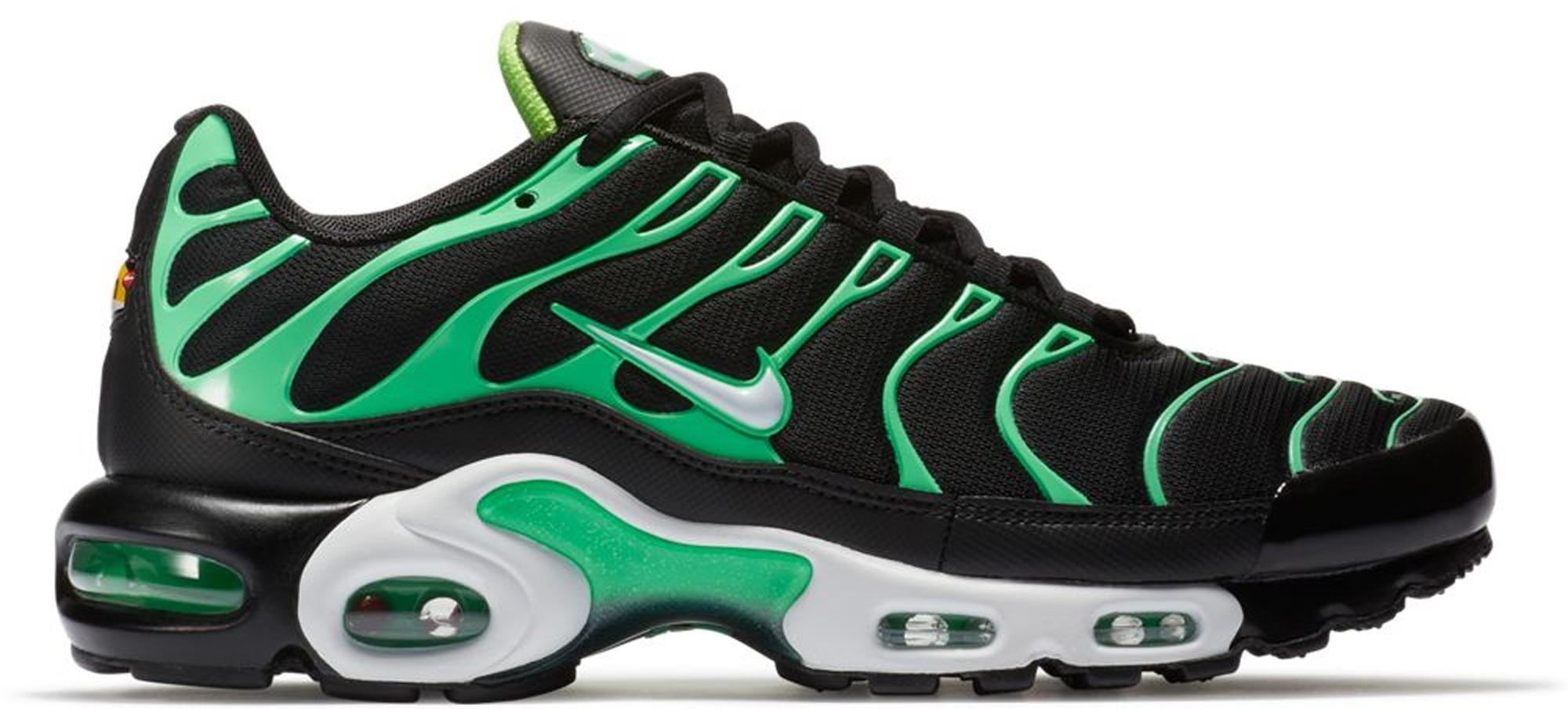 hot sale online 16c8e 1f34d Men's Air Max Plus Black Electric Green