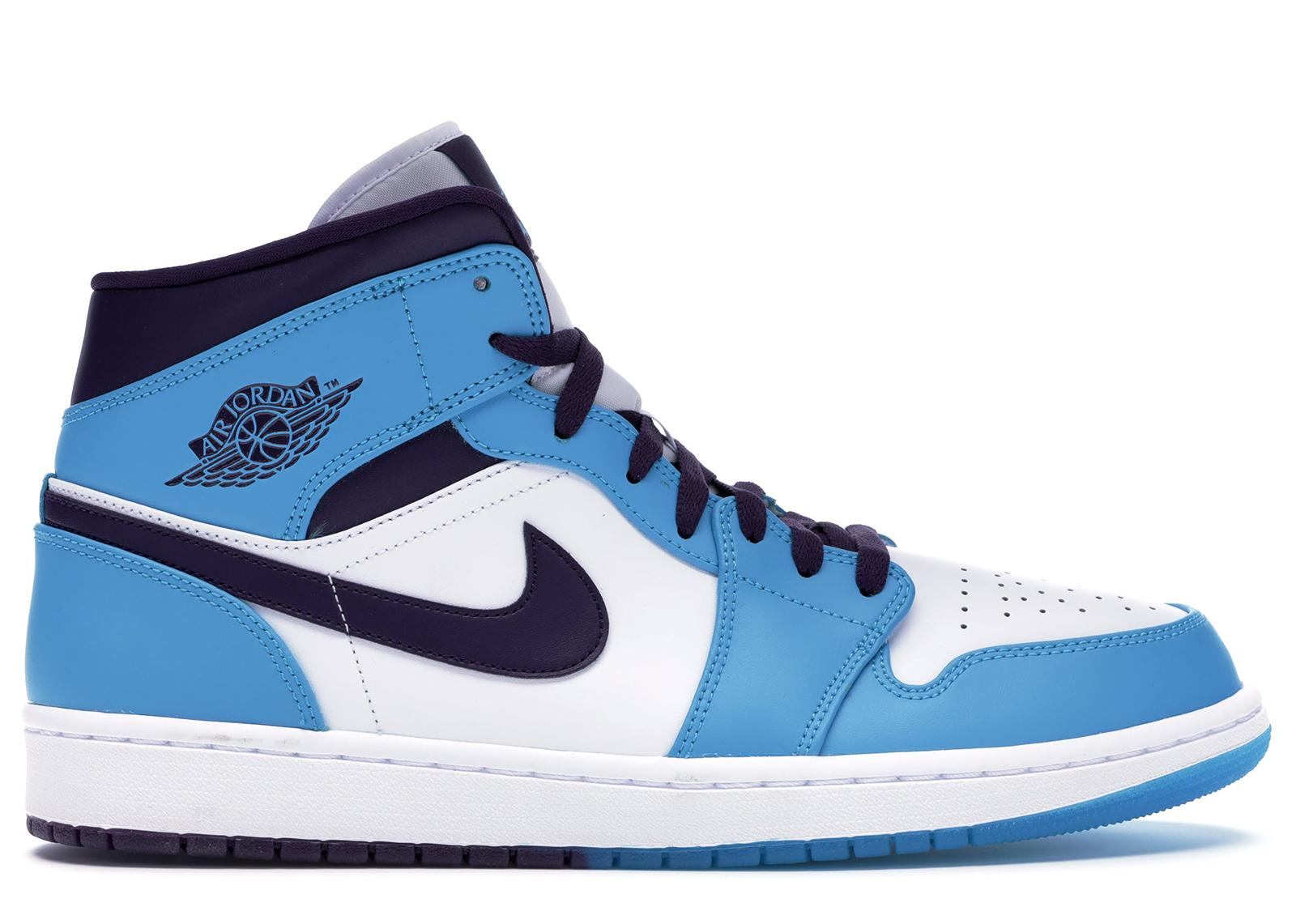 half off 573f2 071b1 Nike - Blue 1 Mid Hornets for Men - Lyst. View fullscreen