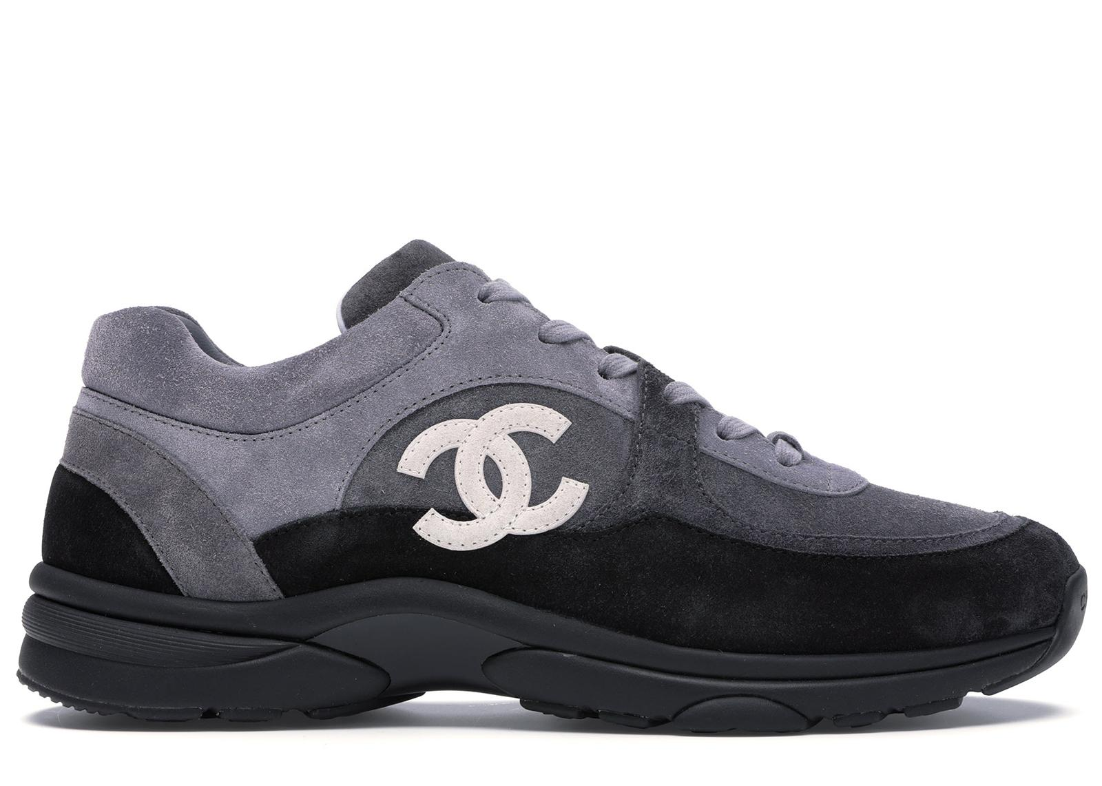 Chanel Low Top Trainer Cc Grey in Grey