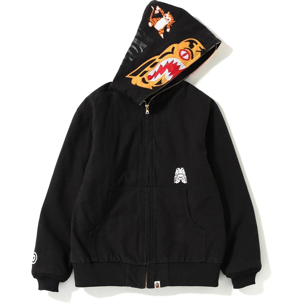 c871828e7a28 Lyst - A Bathing Ape Tiger Work Hoodie Jacket Black in Black for Men