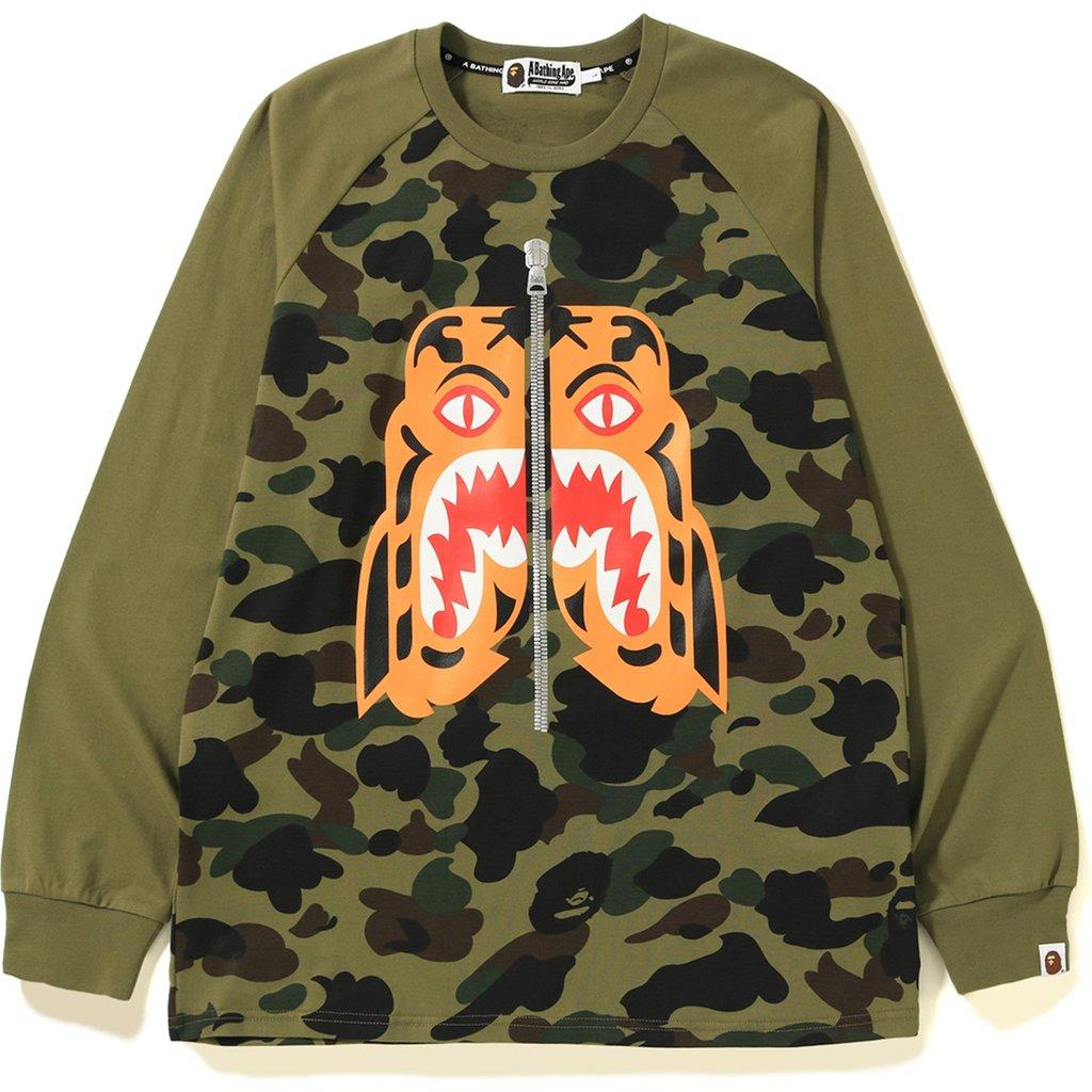 e7e1d246 Lyst - A Bathing Ape 1st Camo Tiger Ls Tee Green in Green for Men
